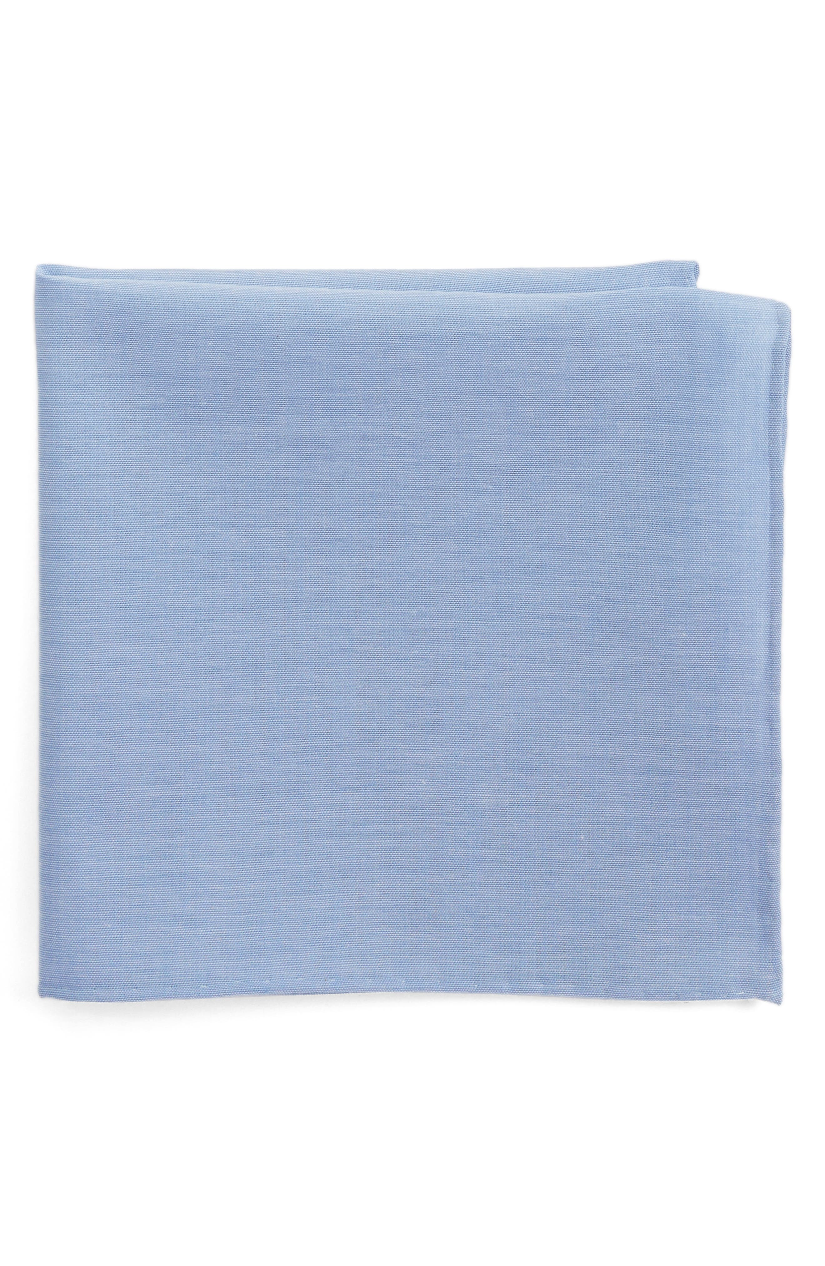 Chambray CottonPocket Square,                         Main,                         color, 455