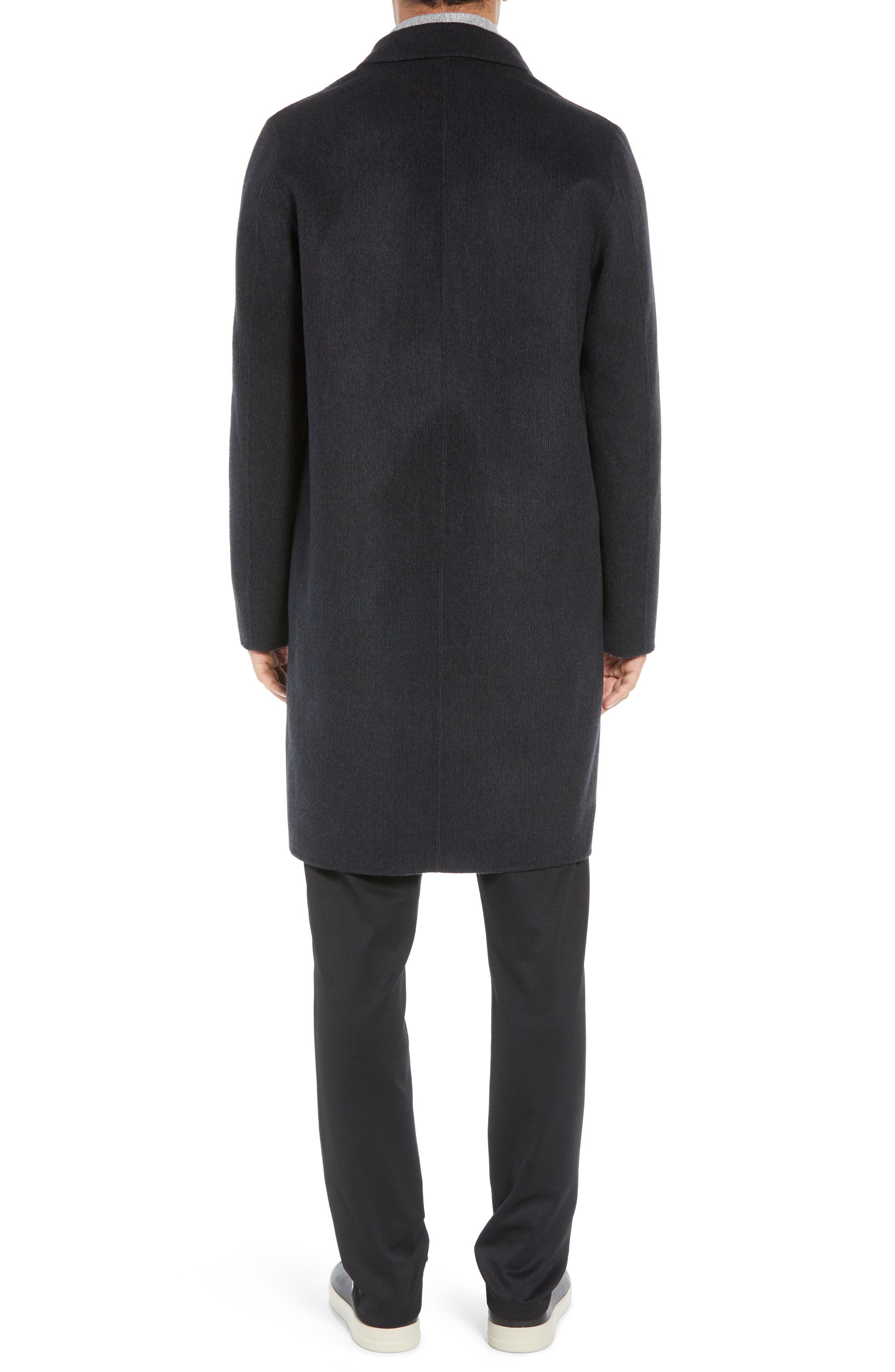 Wool Blend Car Coat,                             Alternate thumbnail 2, color,                             BLACK/ H CHARCOAL