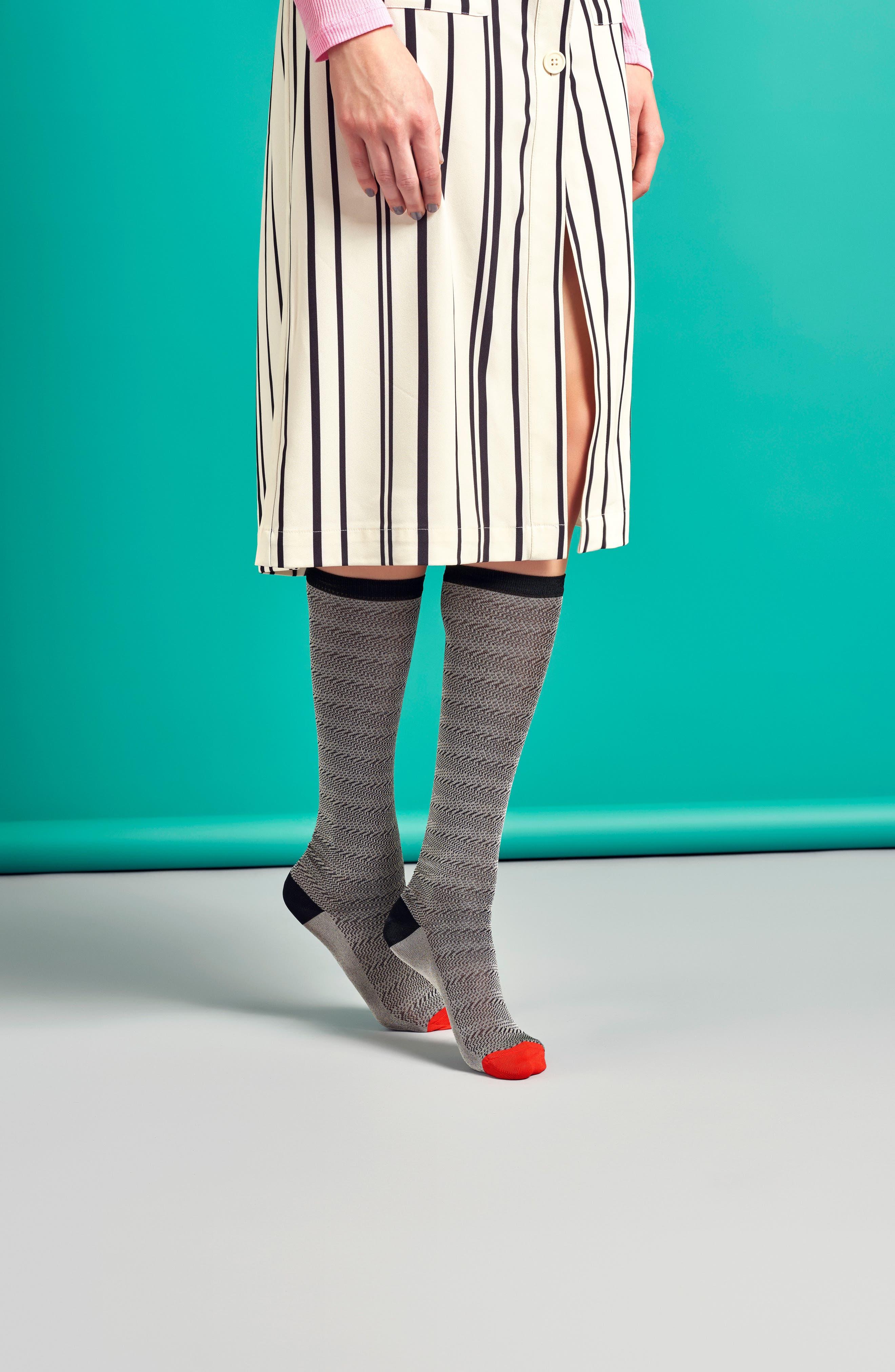 Jane Knee High Socks,                             Alternate thumbnail 3, color,