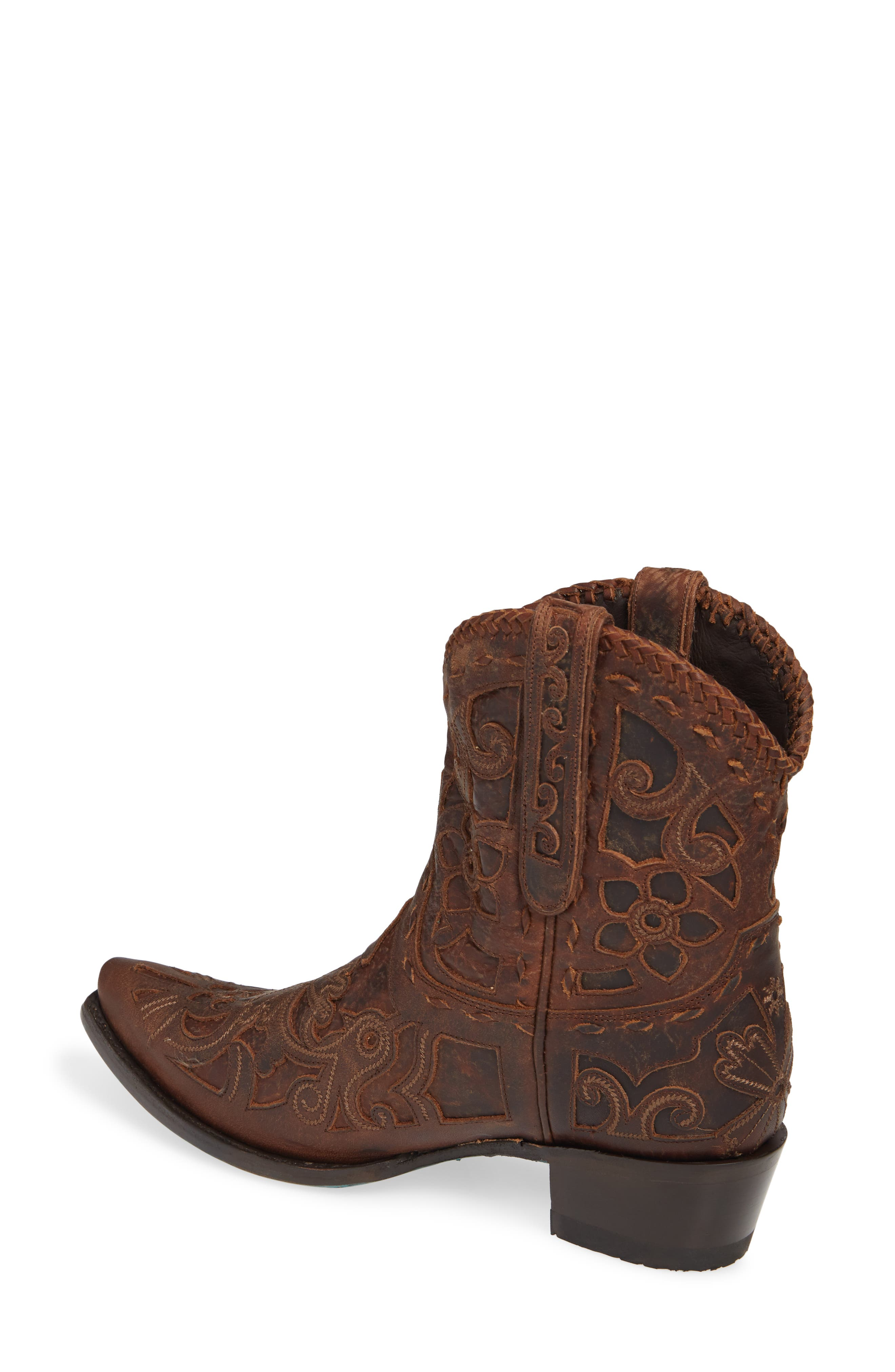 LANE BOOTS,                             Robin Western Boot,                             Alternate thumbnail 2, color,                             DARK BROWN LEATHER