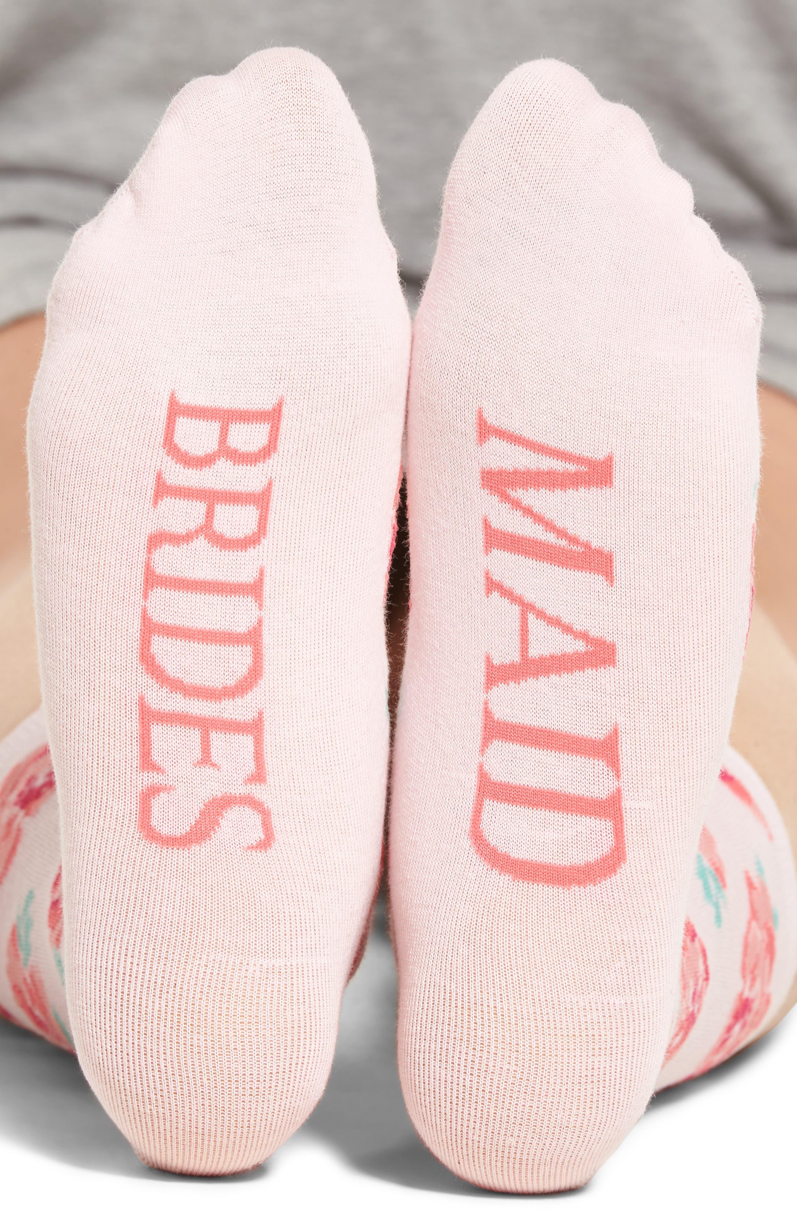 Bridesmaid Crew Socks,                             Alternate thumbnail 2, color,                             680