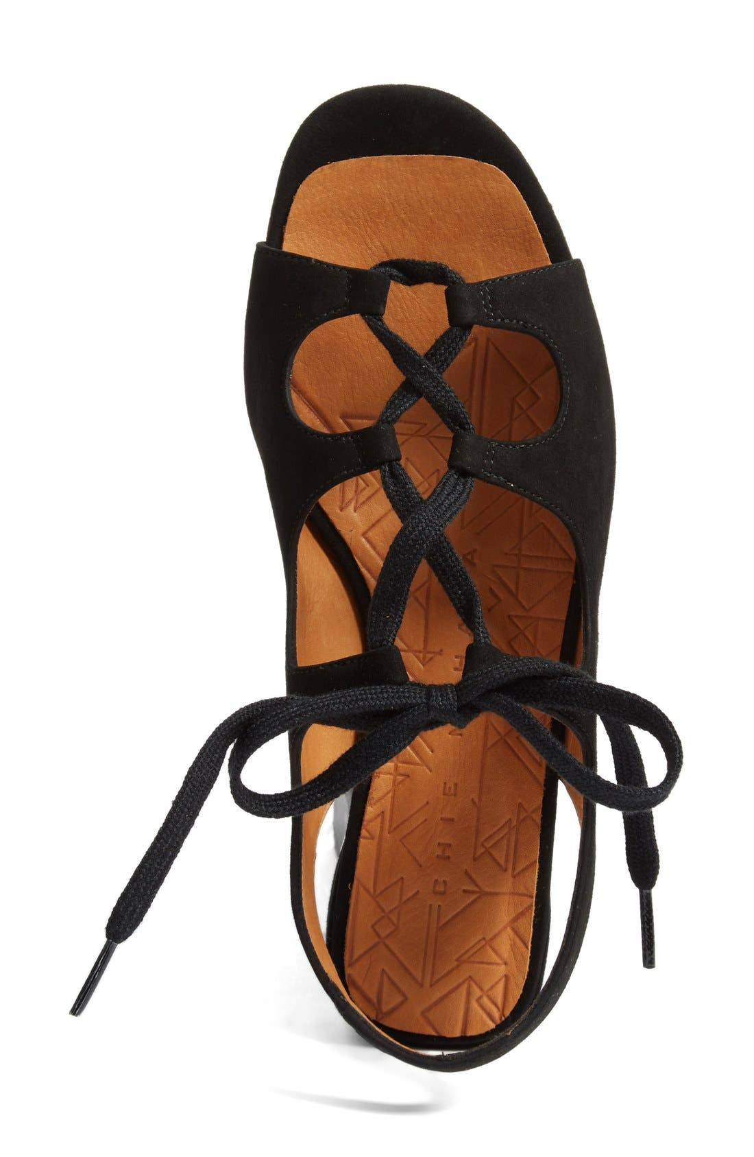 Nalia Lace-Up Sandal,                             Alternate thumbnail 3, color,                             001