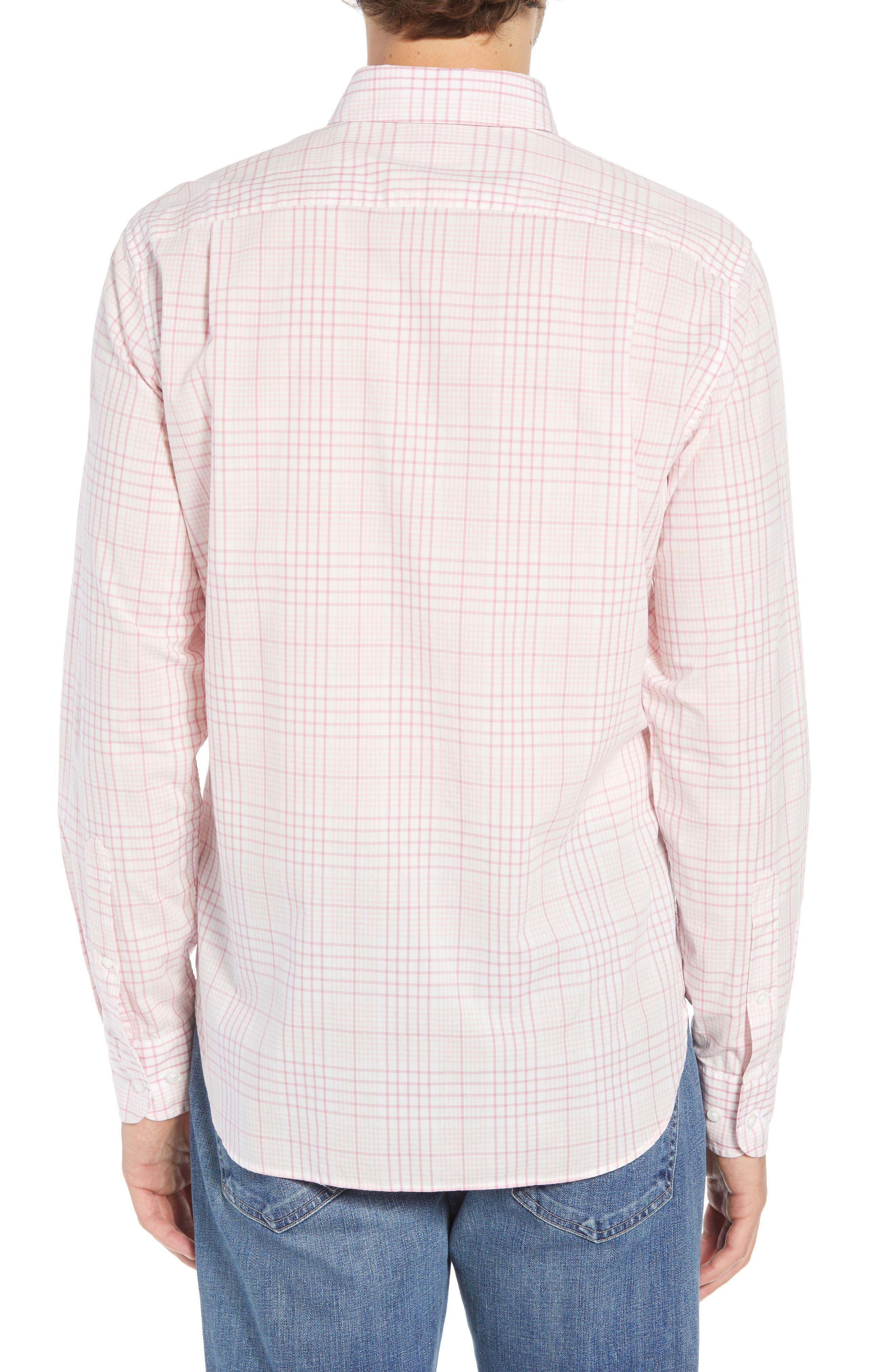 Summerweight Slim Fit Check Sport Shirt,                             Alternate thumbnail 3, color,                             650