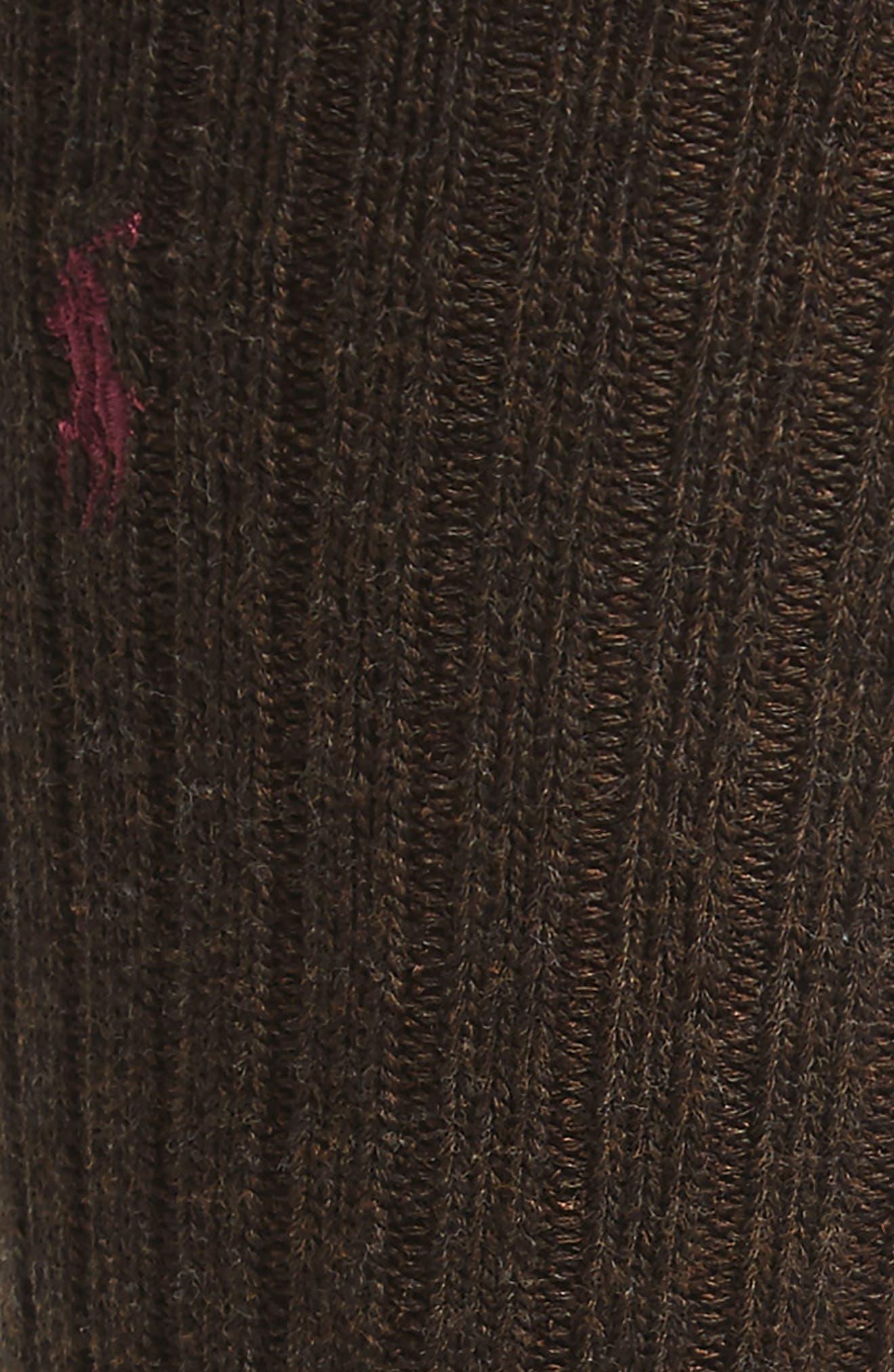 Crew Socks,                             Alternate thumbnail 4, color,                             BARK