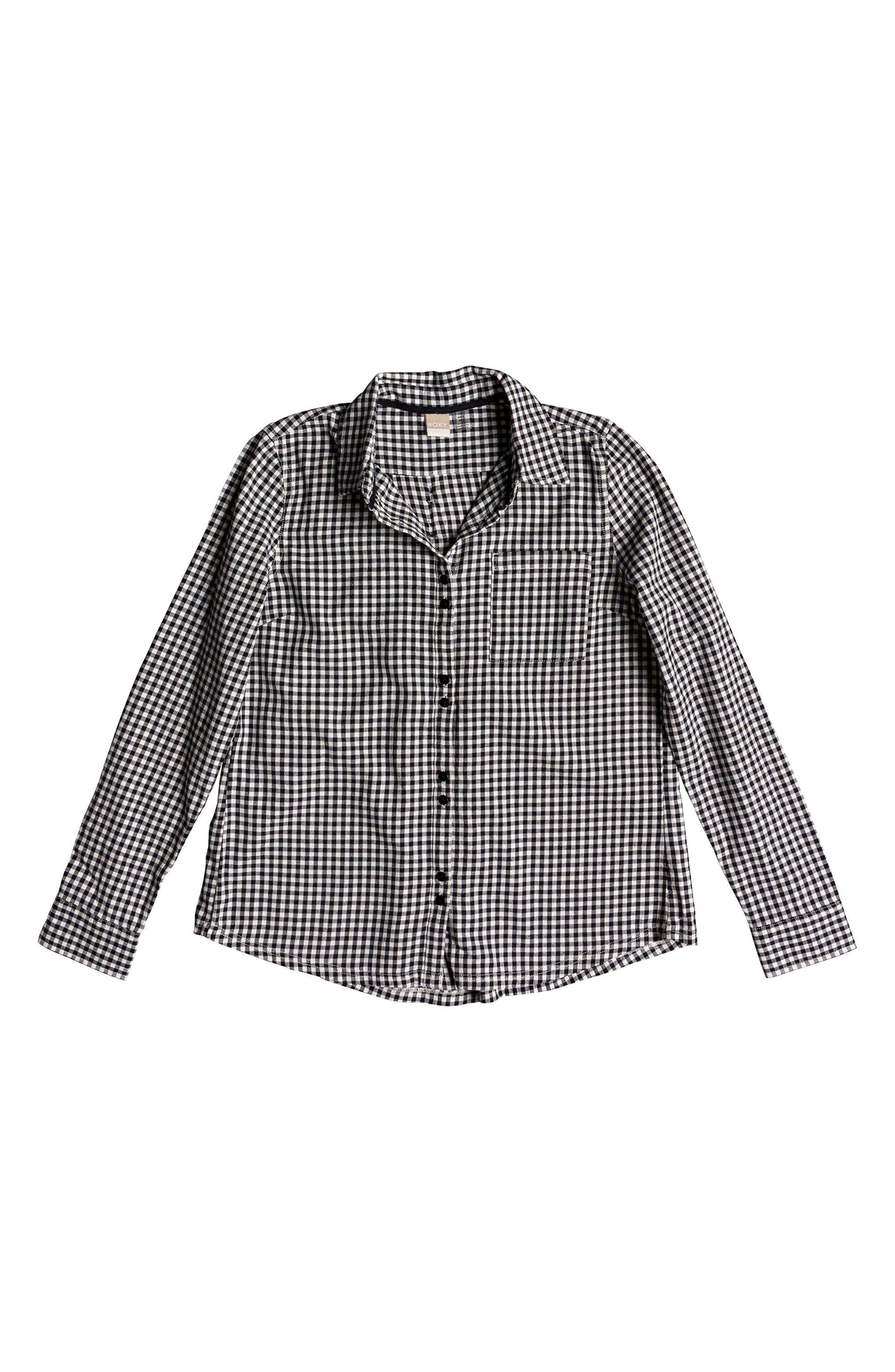 Concrete Streets Gingham Flannel Shirt,                             Alternate thumbnail 3, color,                             001