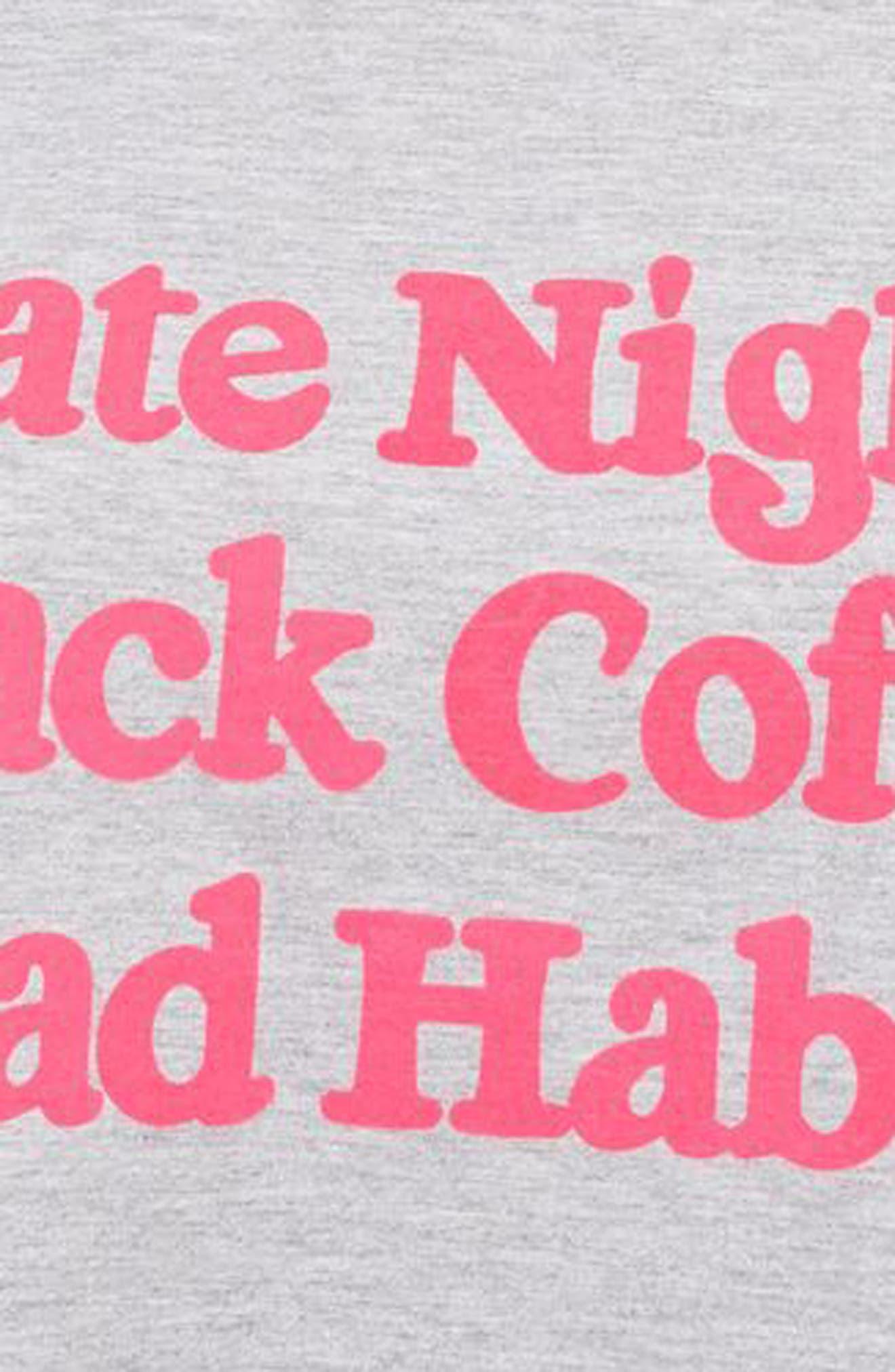 Bad Habits Sleep Shirt,                             Alternate thumbnail 3, color,                             020