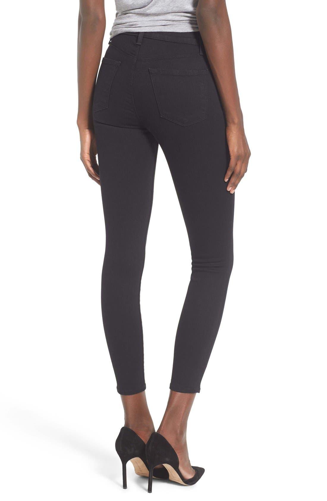 Alana High Waist Crop Skinny Jeans,                             Alternate thumbnail 9, color,                             002
