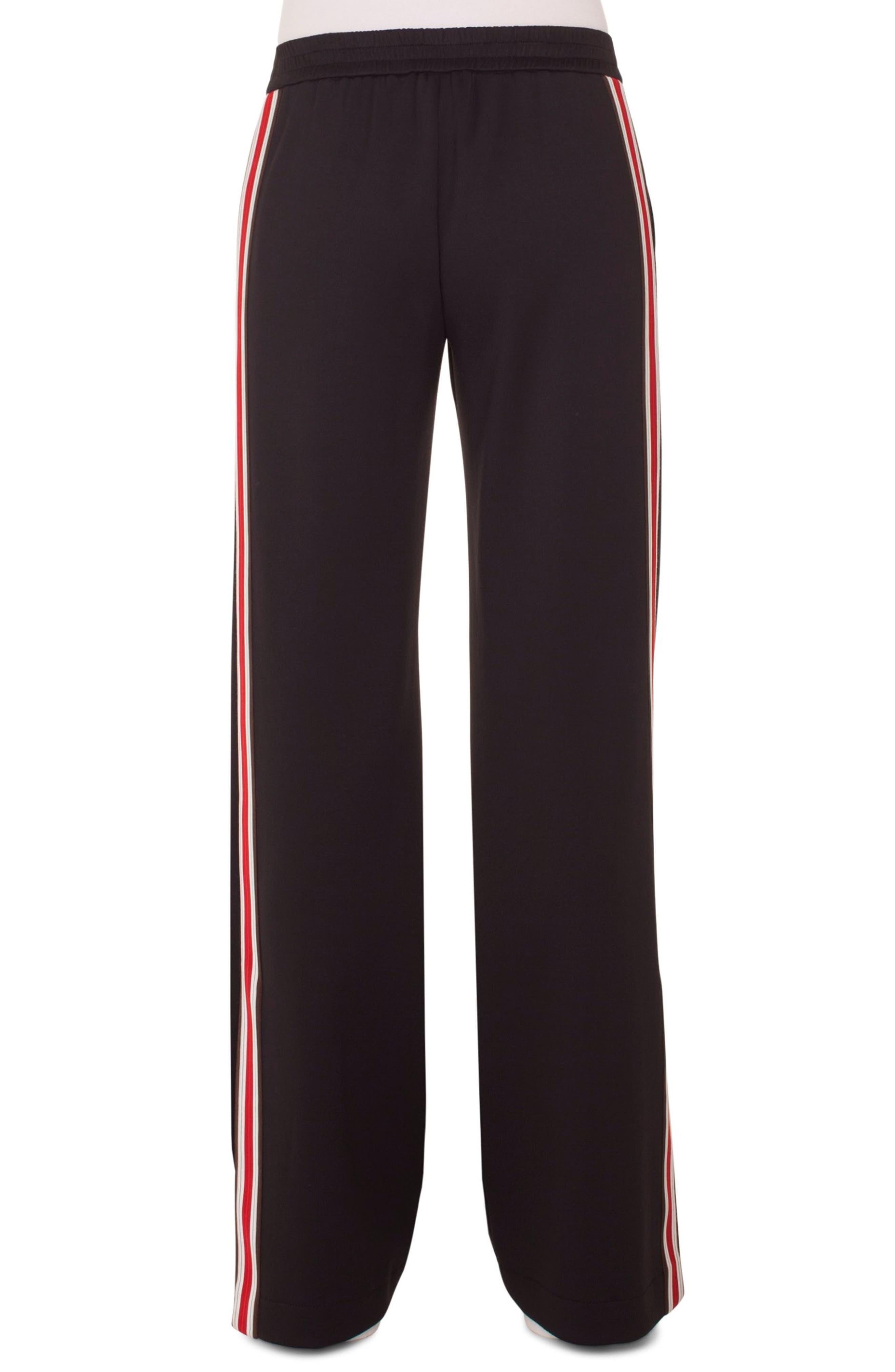 Side Stripe Trousers,                             Alternate thumbnail 2, color,                             BLACK