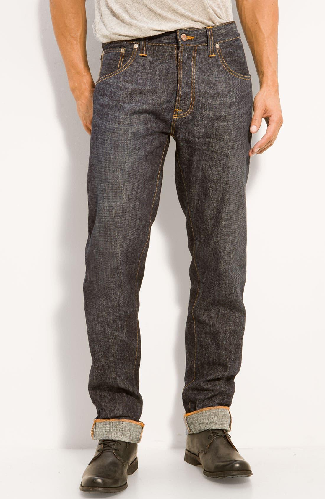 NUDIE JEANS,                             Nudie 'Sharp Bengt' Straight Leg Jeans,                             Alternate thumbnail 2, color,                             400