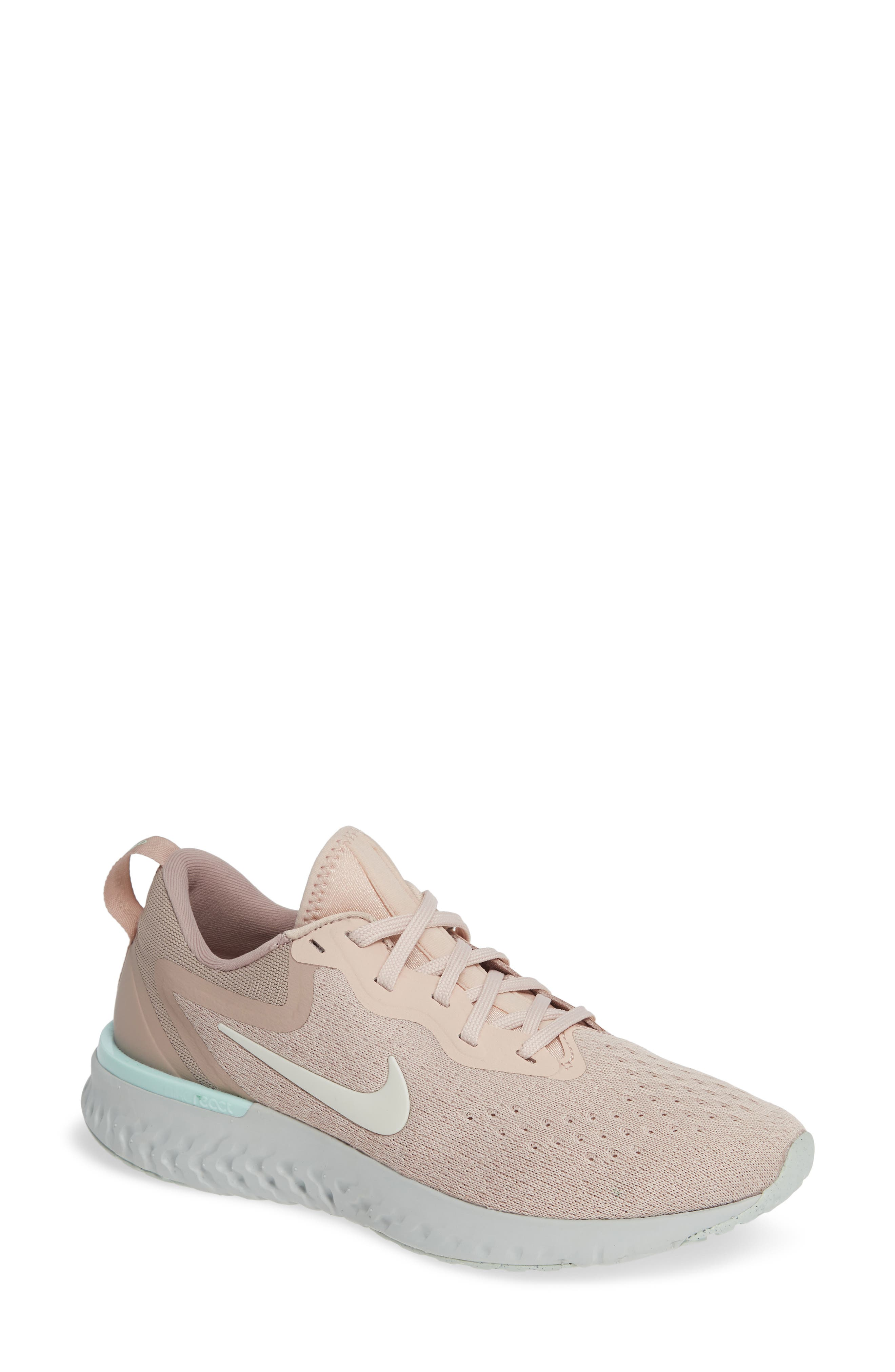 Odyssey React Running Shoe,                             Main thumbnail 1, color,                             BEIGE/ PHANTOM-DIFFUSED TAUPE