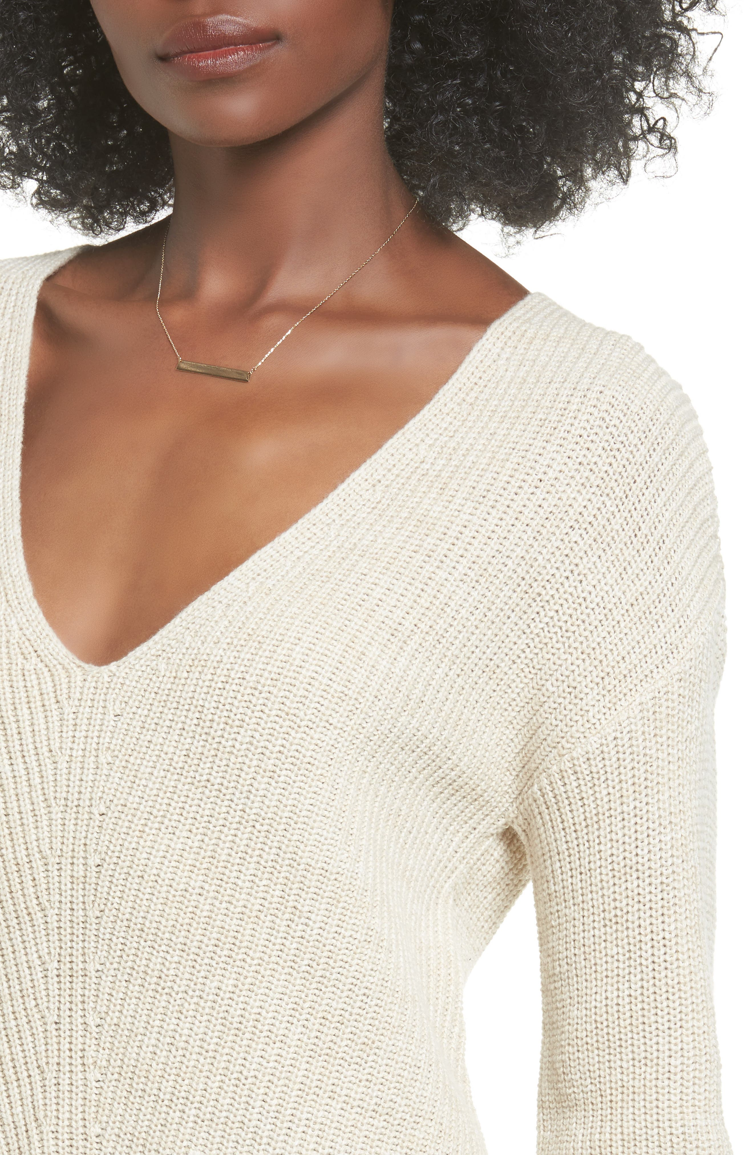 V-Neck Sweater,                             Alternate thumbnail 24, color,