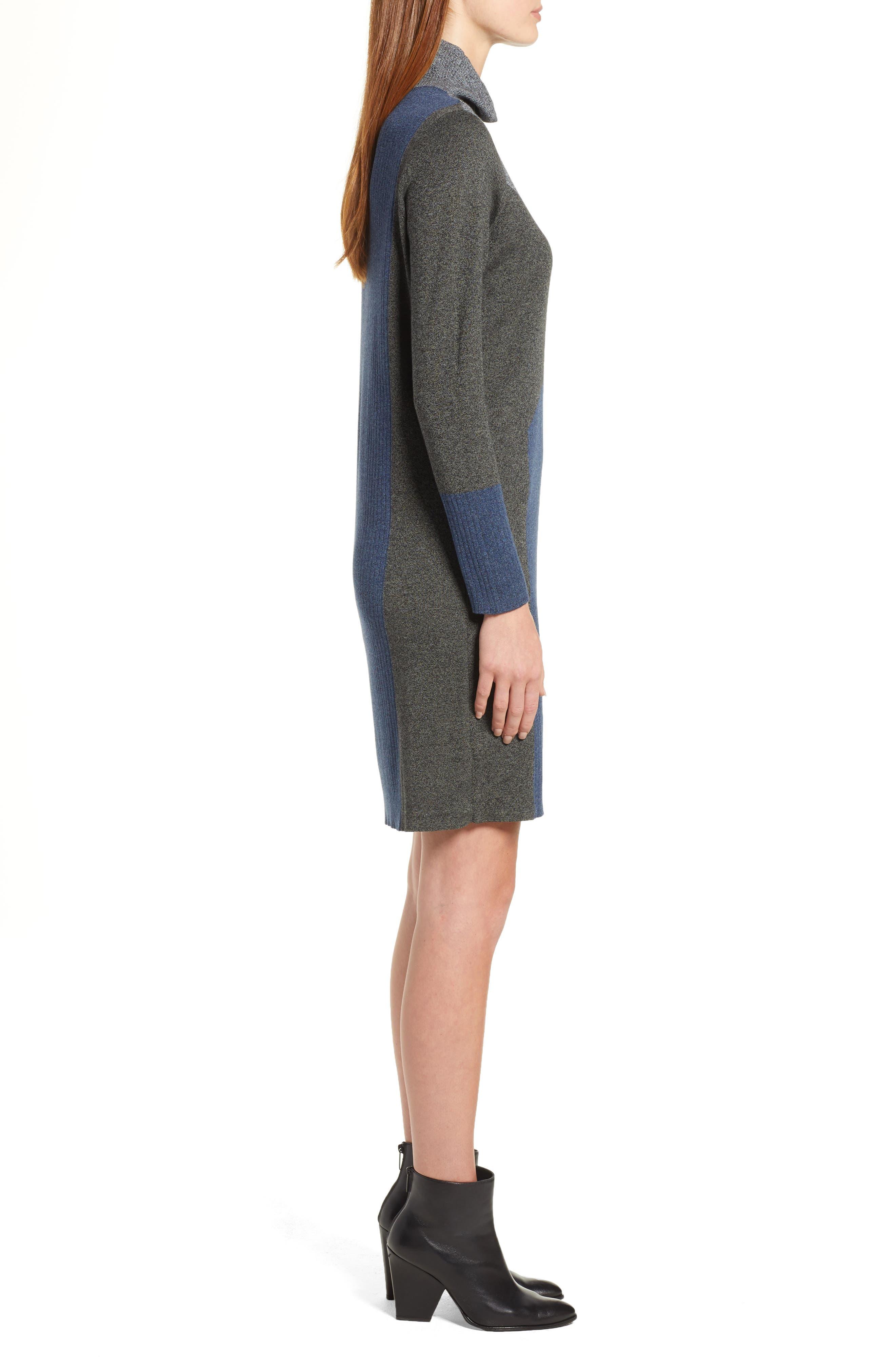 Laid Back Sweater Dress,                             Alternate thumbnail 3, color,                             090
