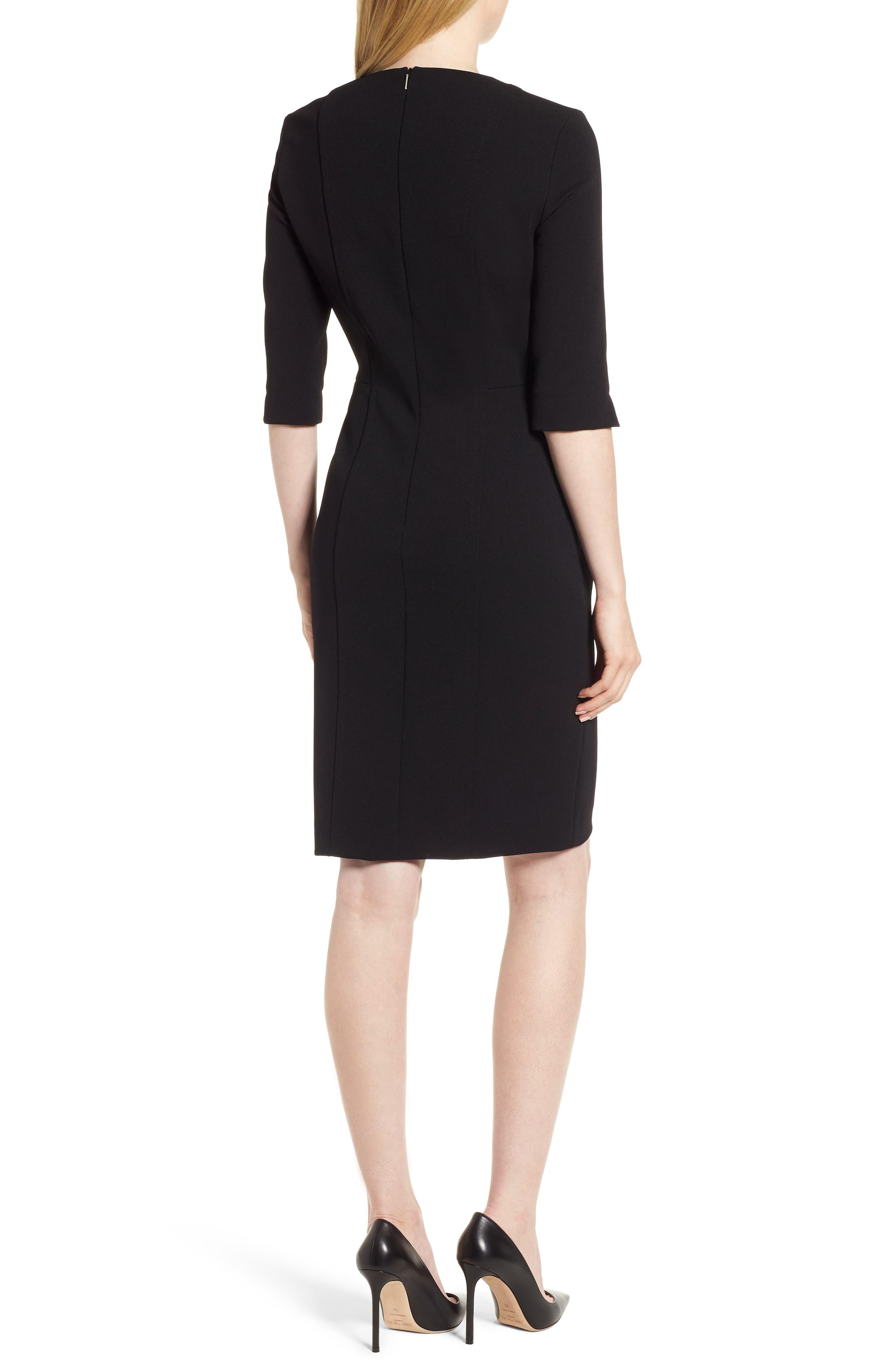 Deazema Twill Jersey Dress,                             Alternate thumbnail 2, color,                             001