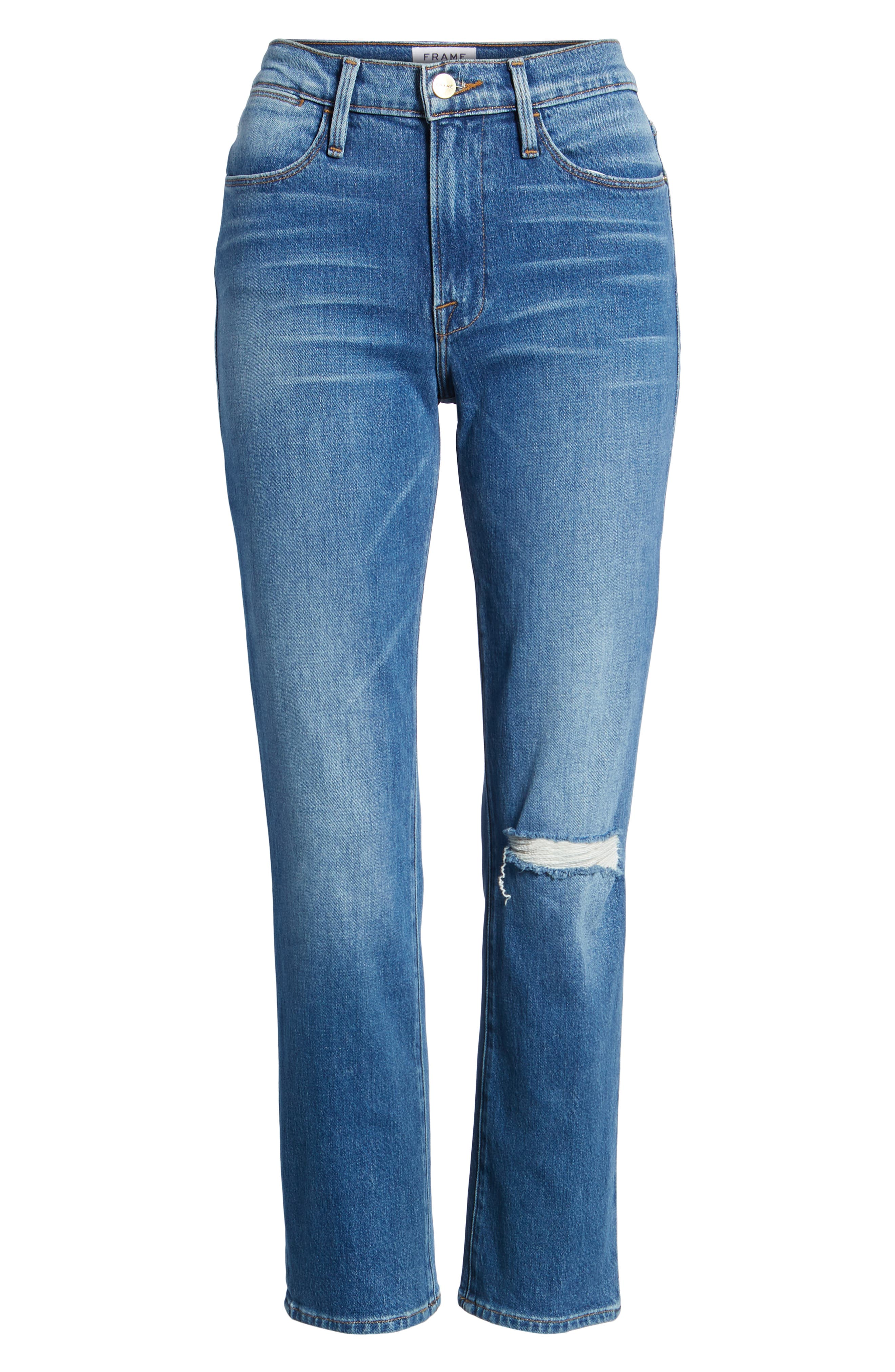 Le High Straight Leg Jeans,                             Alternate thumbnail 7, color,                             420