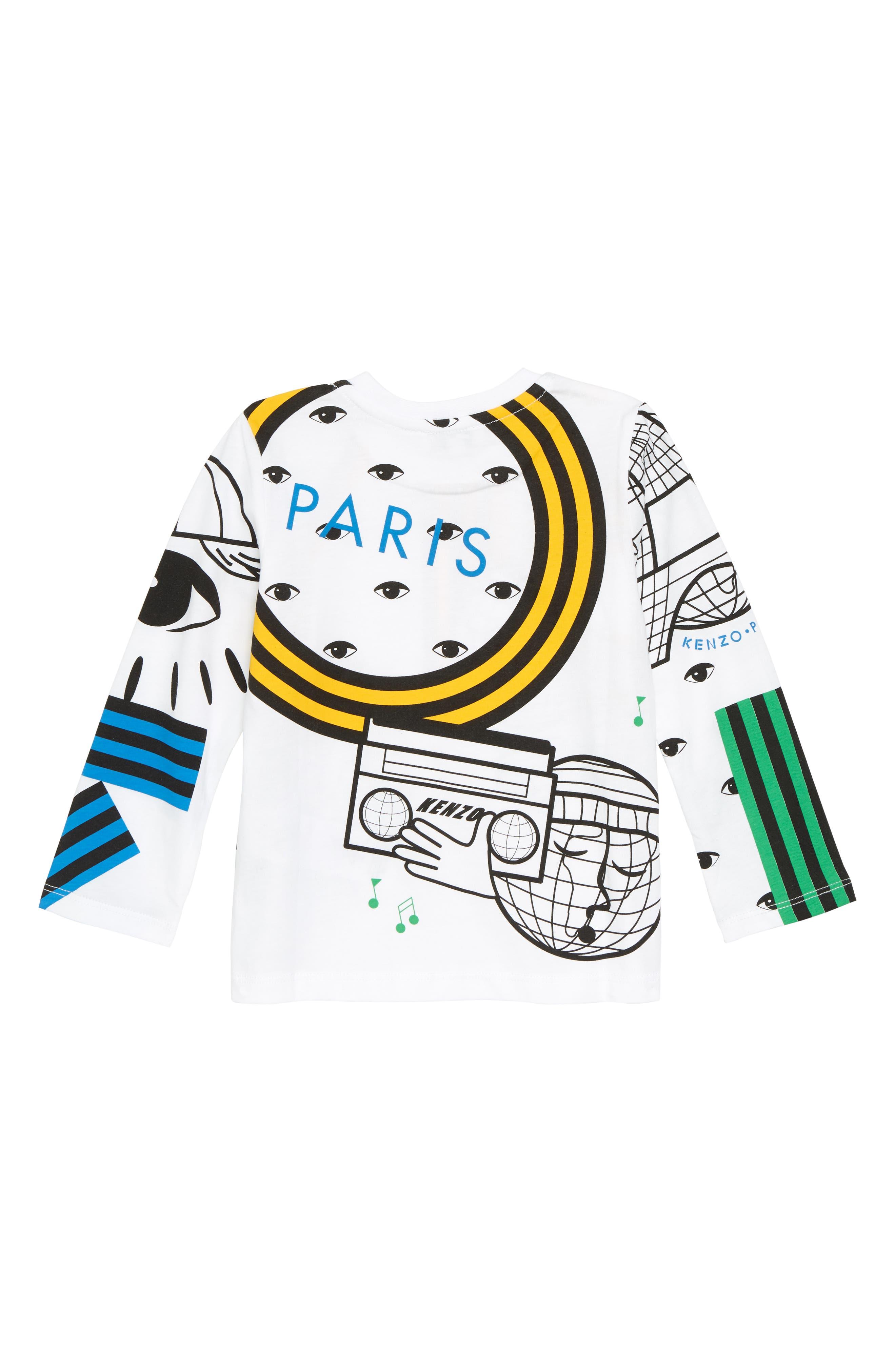 Multi Icons T-Shirt,                             Alternate thumbnail 2, color,                             WHITE