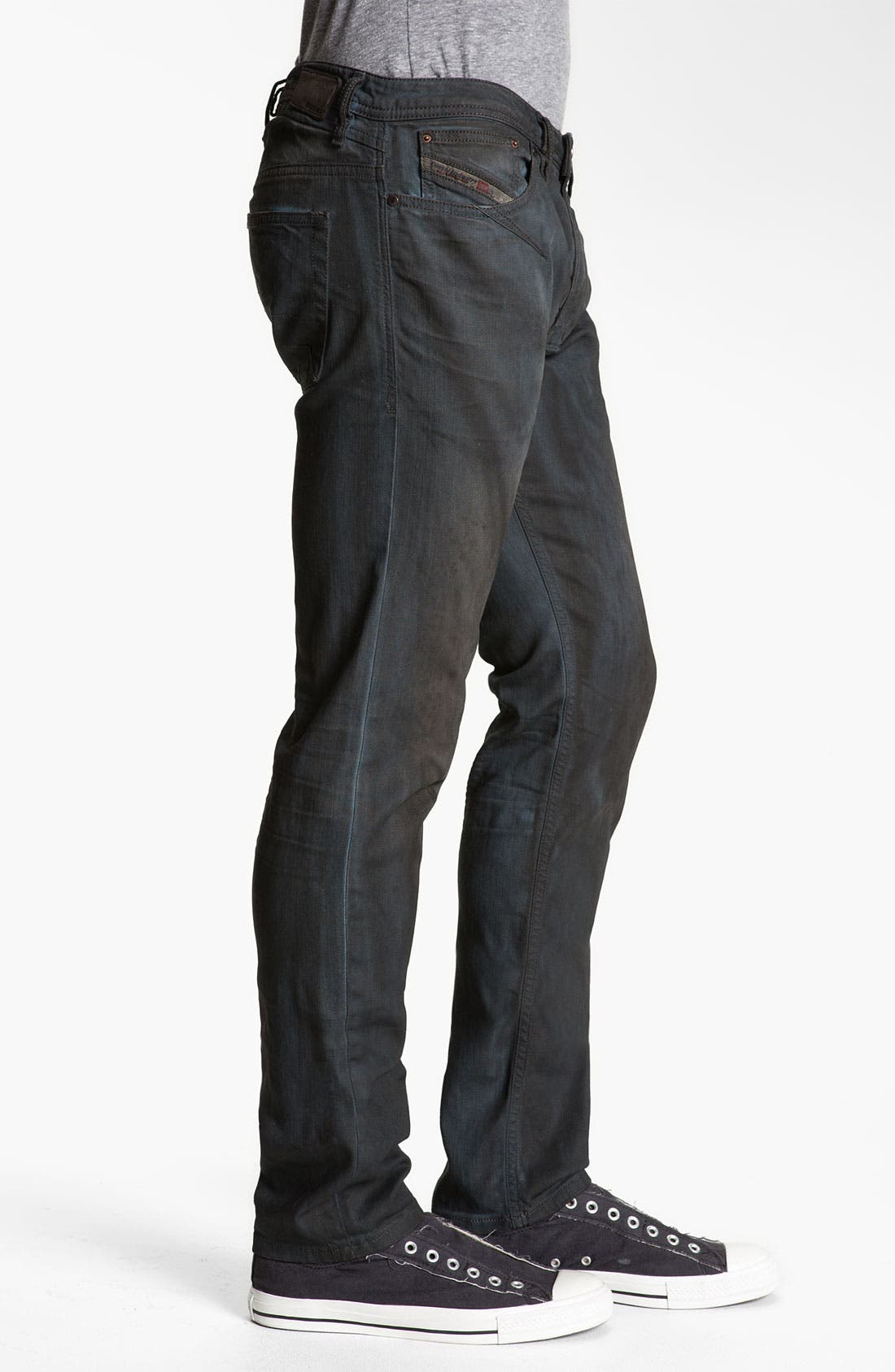 'Shioner' Slim Straight Leg Jeans,                             Alternate thumbnail 4, color,                             400