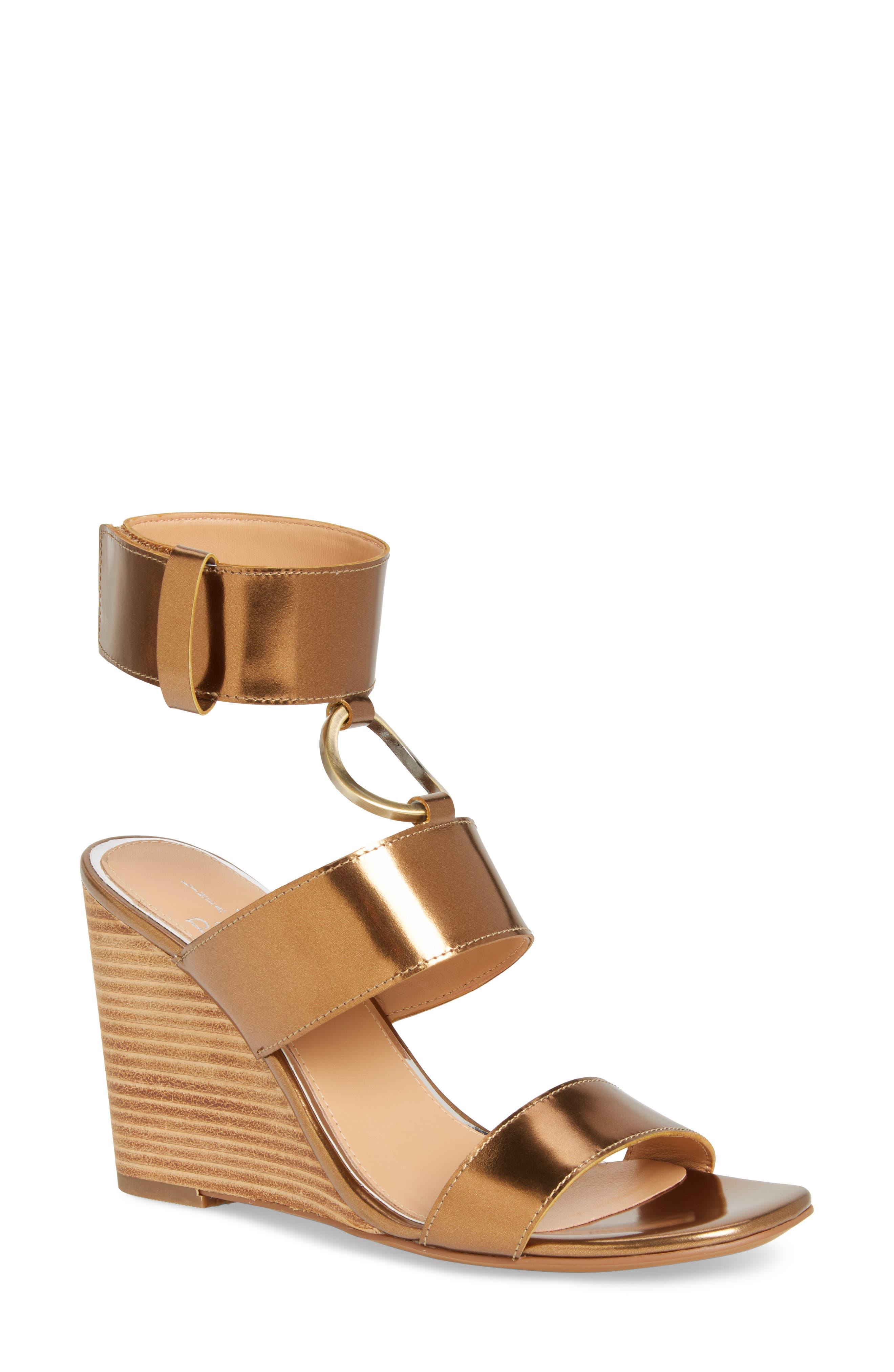Linea Paolo Eva Wedge Sandal- Metallic
