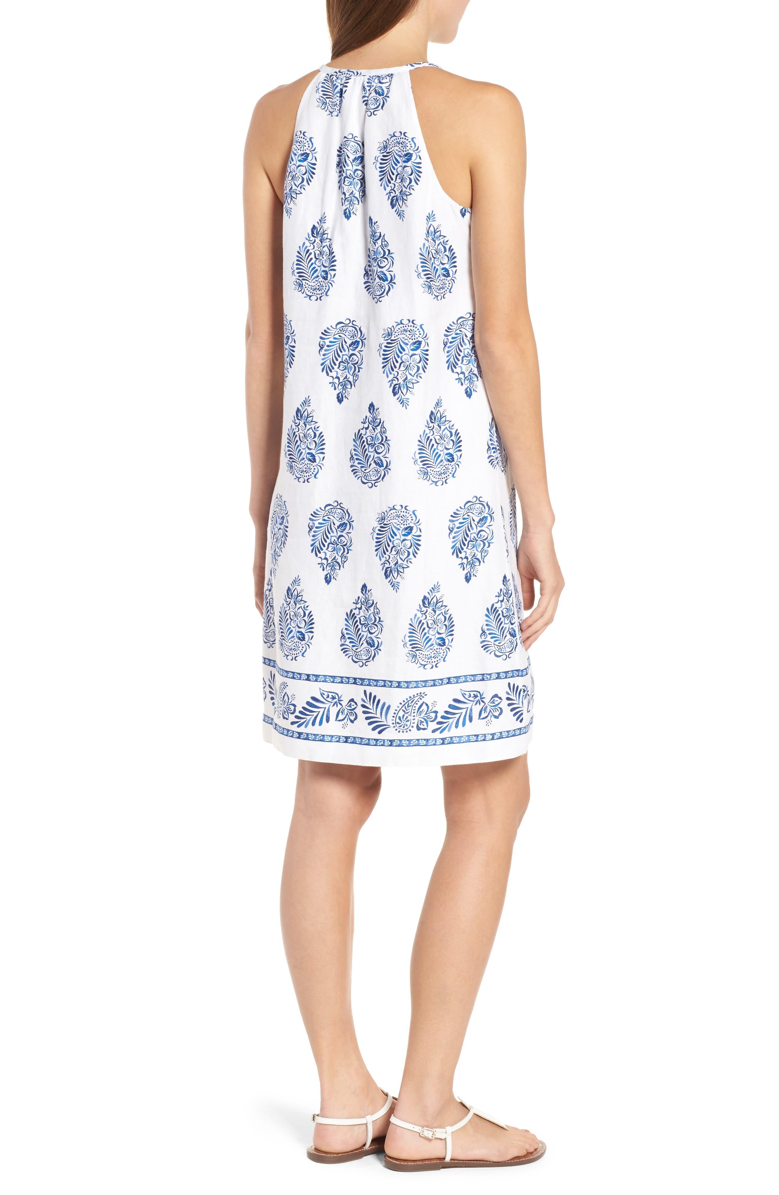 Paleys Paisley Sleeveless Shift Dress,                             Alternate thumbnail 2, color,                             401