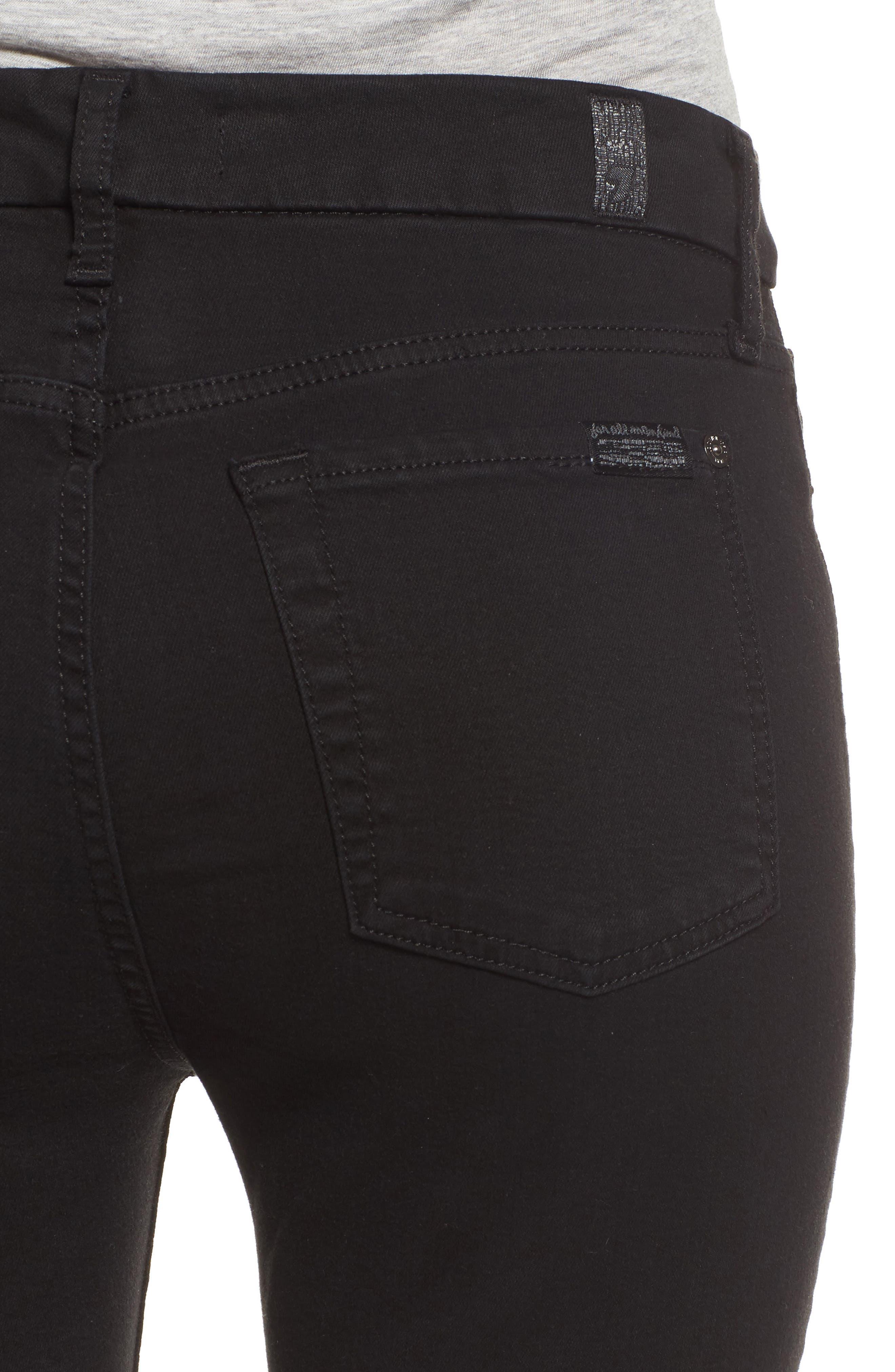 b(air) High Waist Skinny Jeans,                             Alternate thumbnail 4, color,                             B(AIR) BLACK