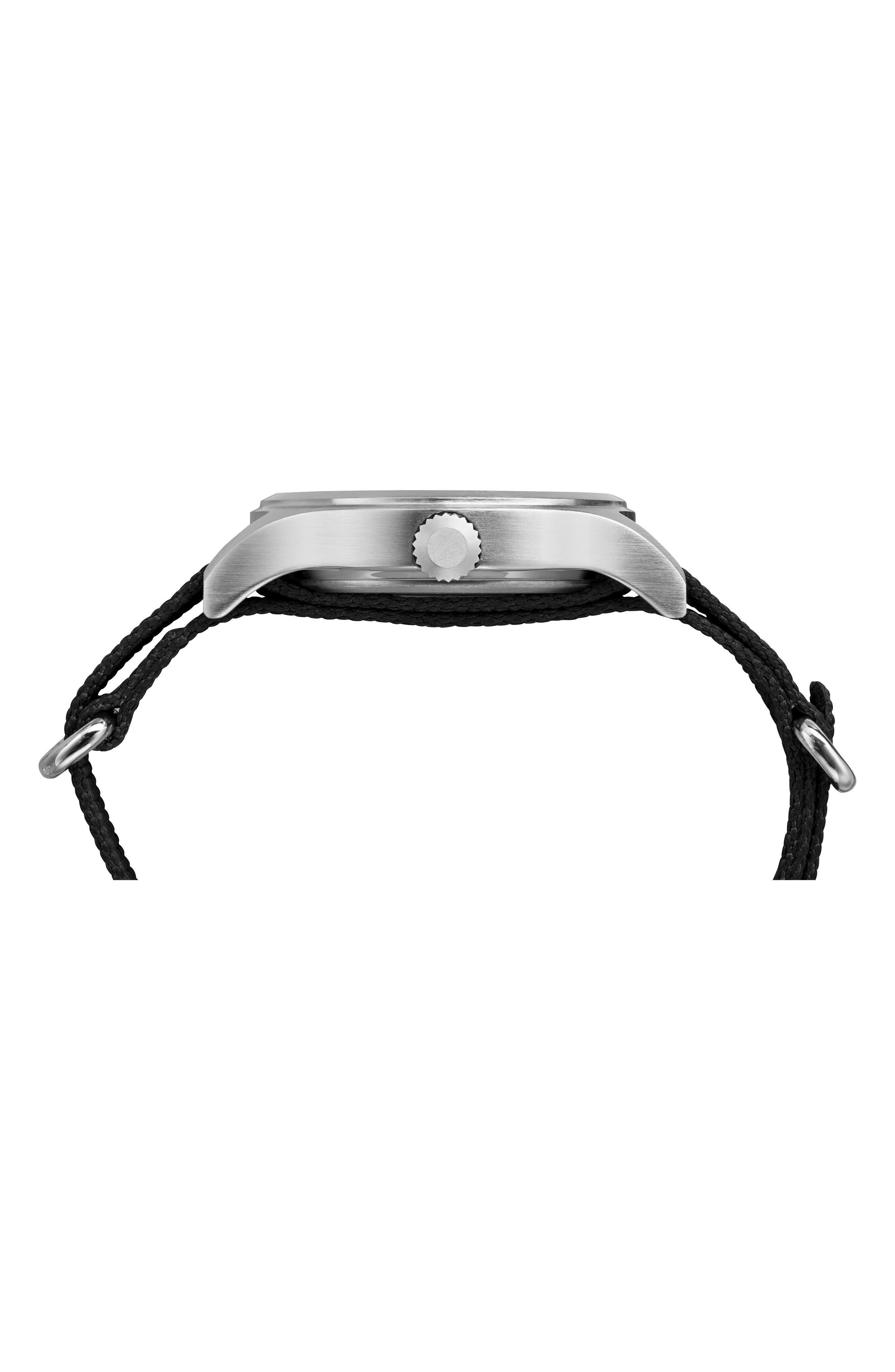 The Mod NATO Strap Watch, 40mm,                             Alternate thumbnail 2, color,                             BLACK/ WHITE
