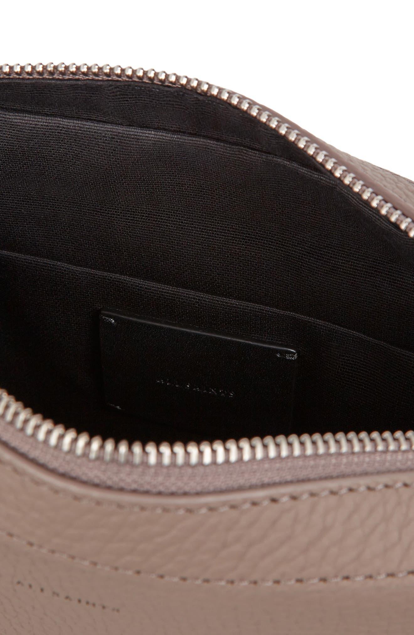 Kepi Mini Leather Crossbody Bag,                             Alternate thumbnail 4, color,                             ALMOND BROWN