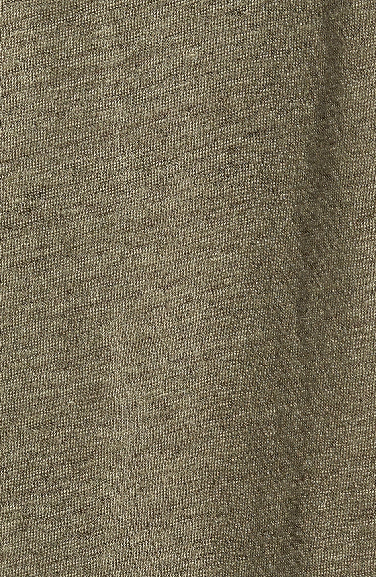 Garrett Linen T-Shirt,                             Alternate thumbnail 5, color,                             SAGE
