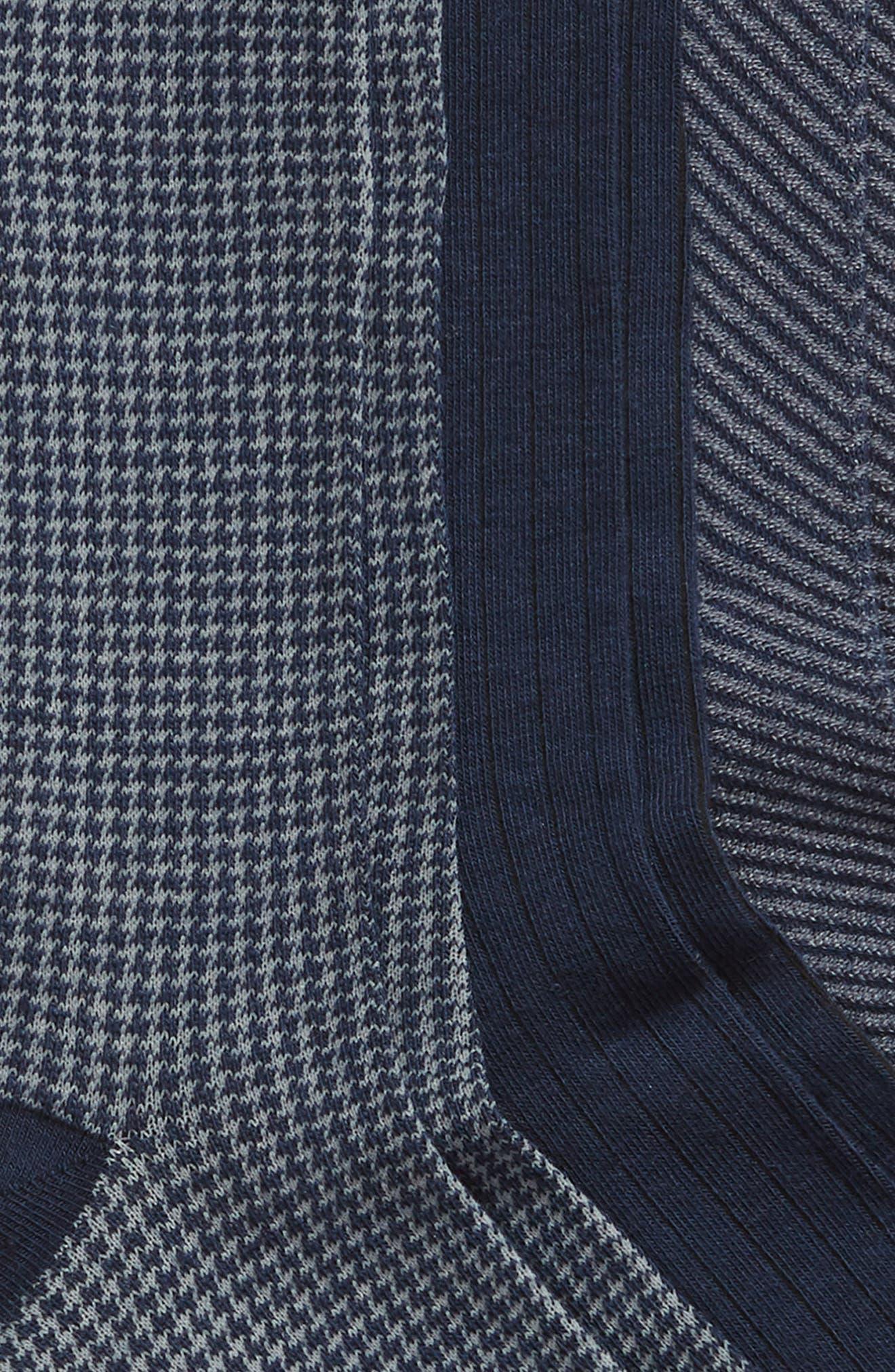 Dominic 3-Pack Crew Socks,                             Alternate thumbnail 2, color,                             NAVY MULTI