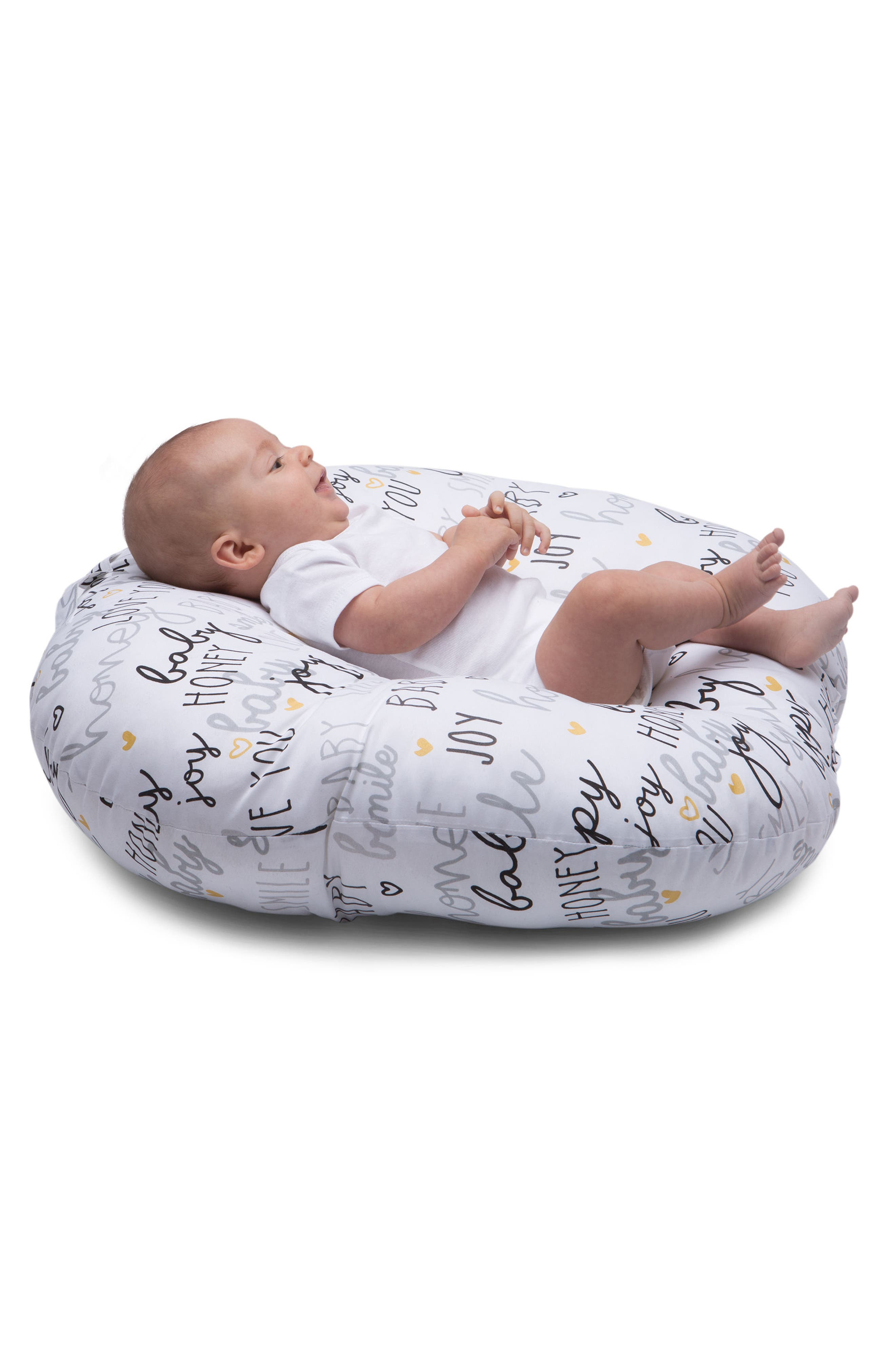 Newborn Lounger,                             Alternate thumbnail 6, color,                             BLACK AND WHITE