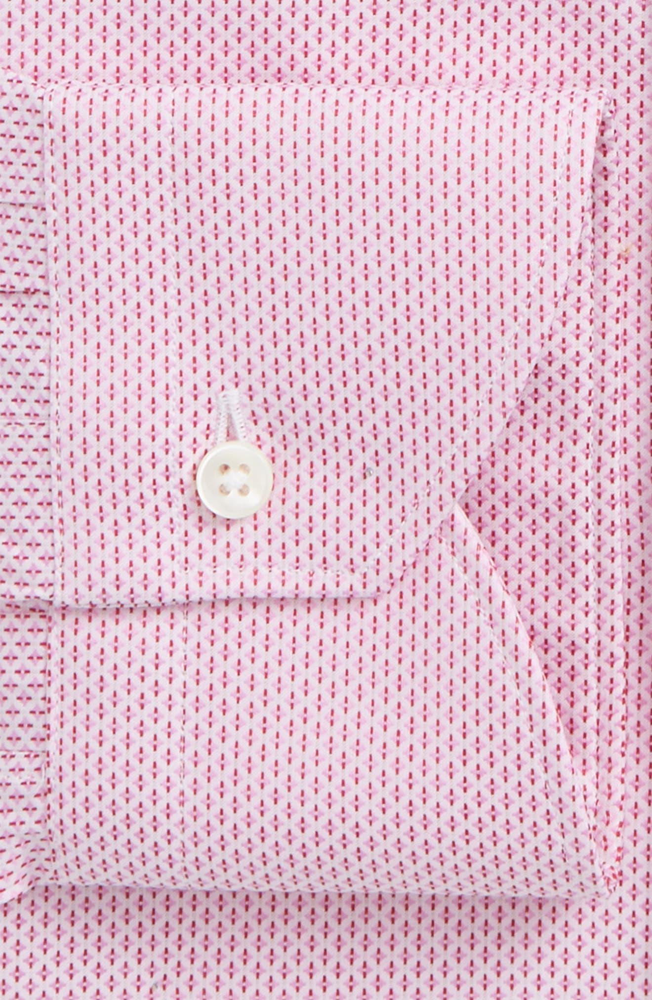 Regular Fit Geometric Print Dress Shirt,                             Alternate thumbnail 6, color,