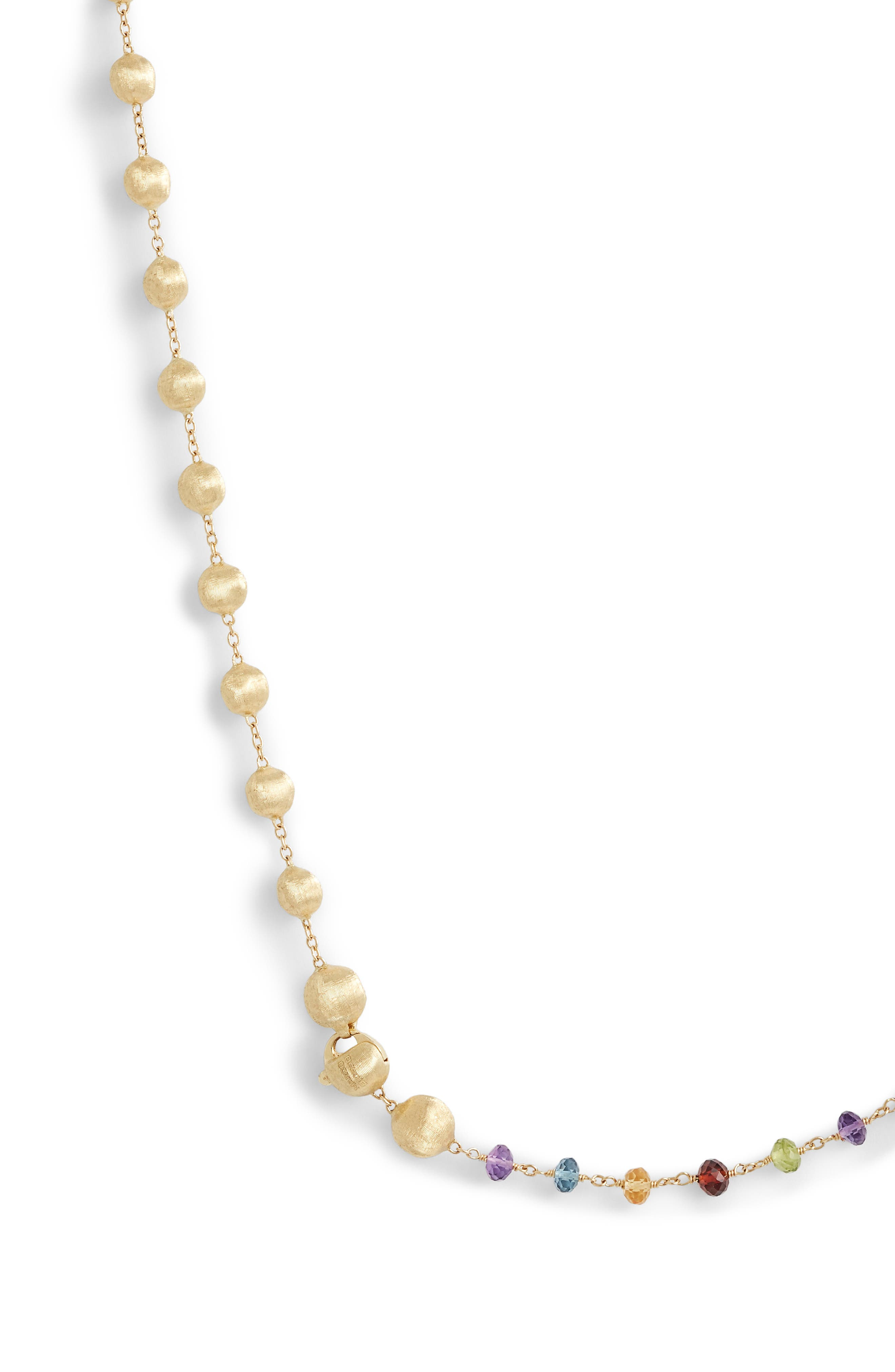 Africa Semiprecious Stone Long Strand Necklace,                             Alternate thumbnail 4, color,                             YELLOW GOLD