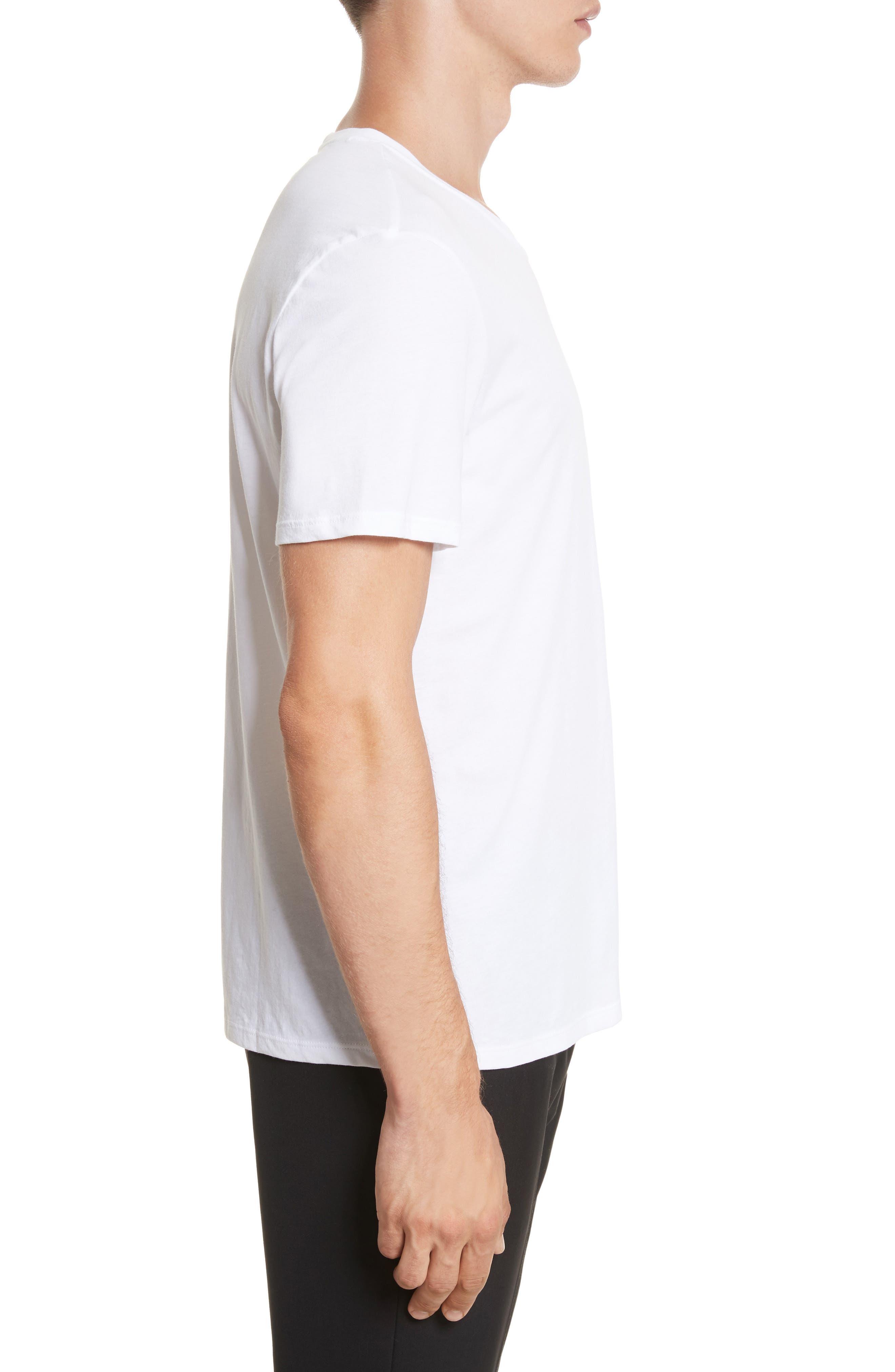Cotton Jersey T-Shirt,                             Alternate thumbnail 3, color,                             WHITE
