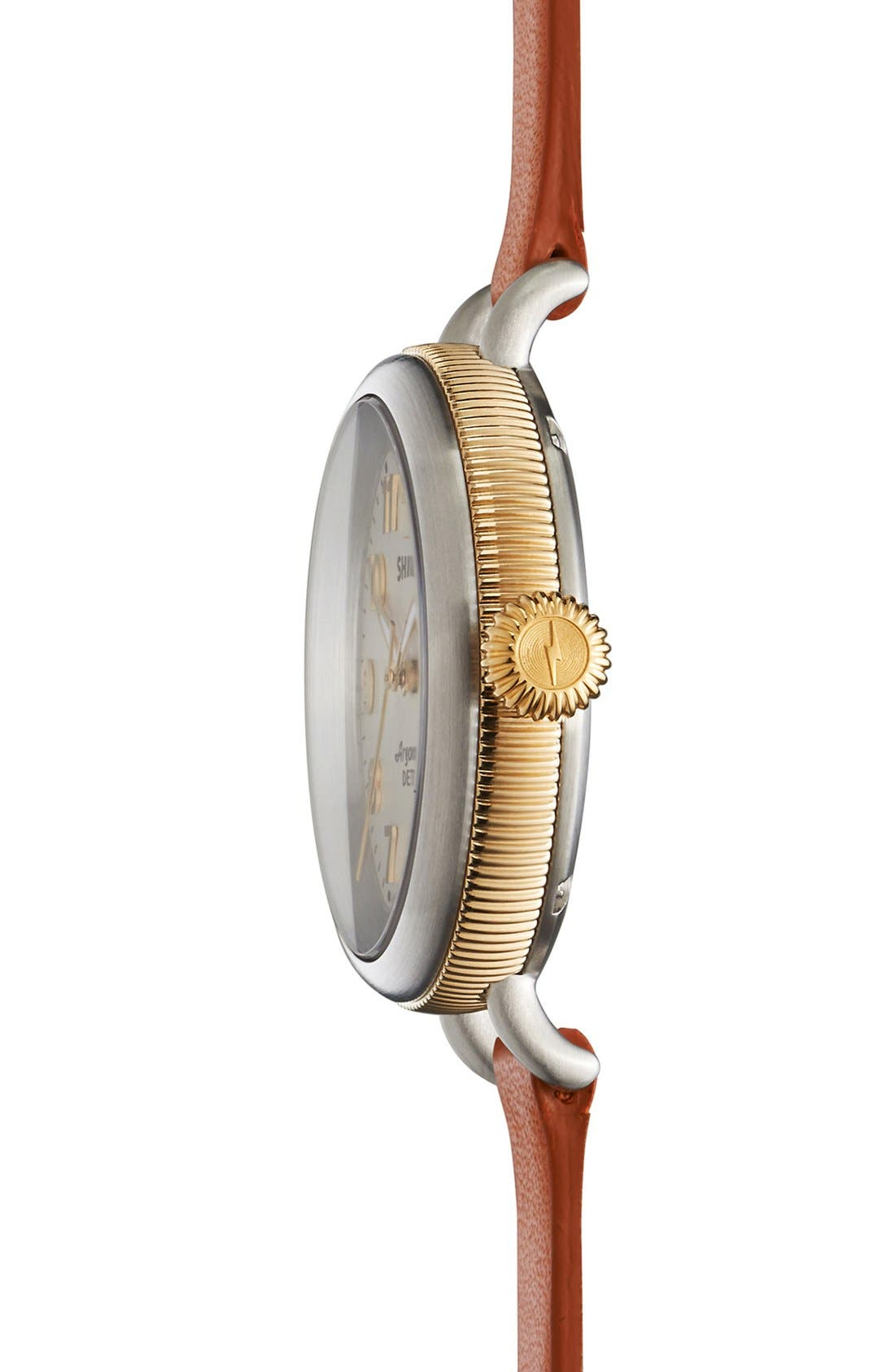 'The Birdy' Double Wrap Leather Strap Watch, 34mm,                             Alternate thumbnail 32, color,