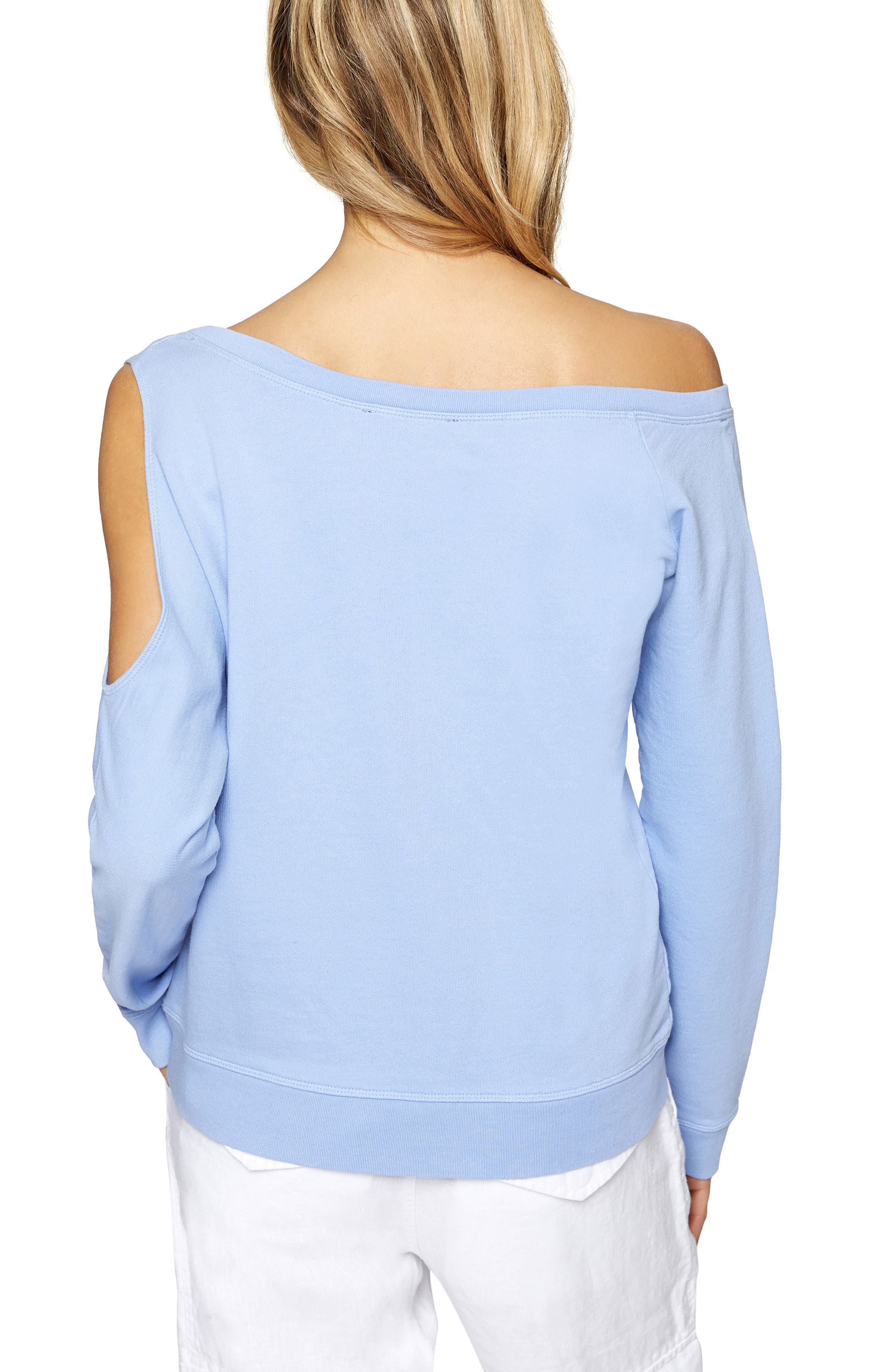 Alexi Asymmetrical Sweatshirt,                             Alternate thumbnail 4, color,