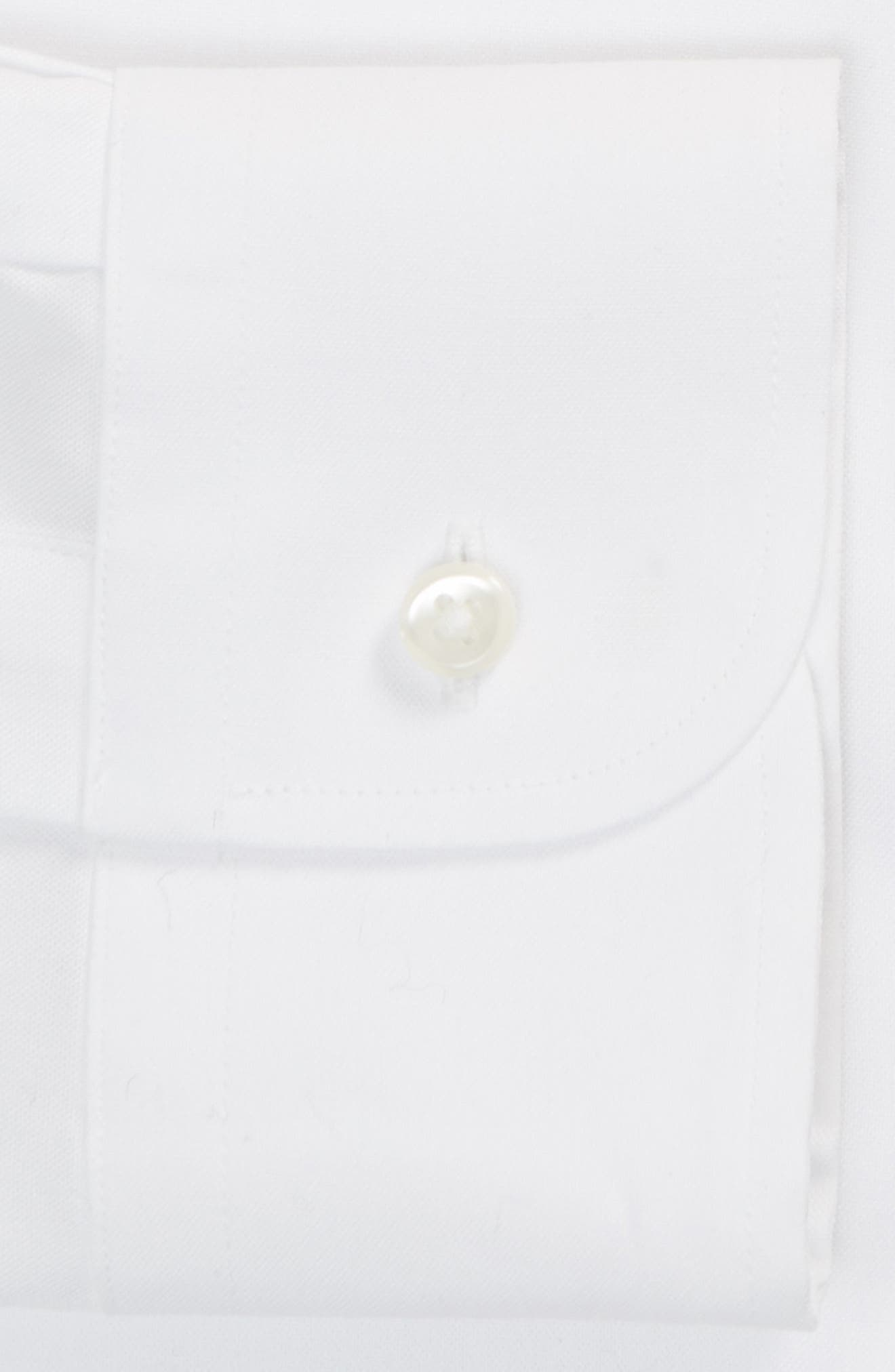 Classic Fit Non-Iron Solid Dress Shirt,                             Alternate thumbnail 7, color,                             WHITE