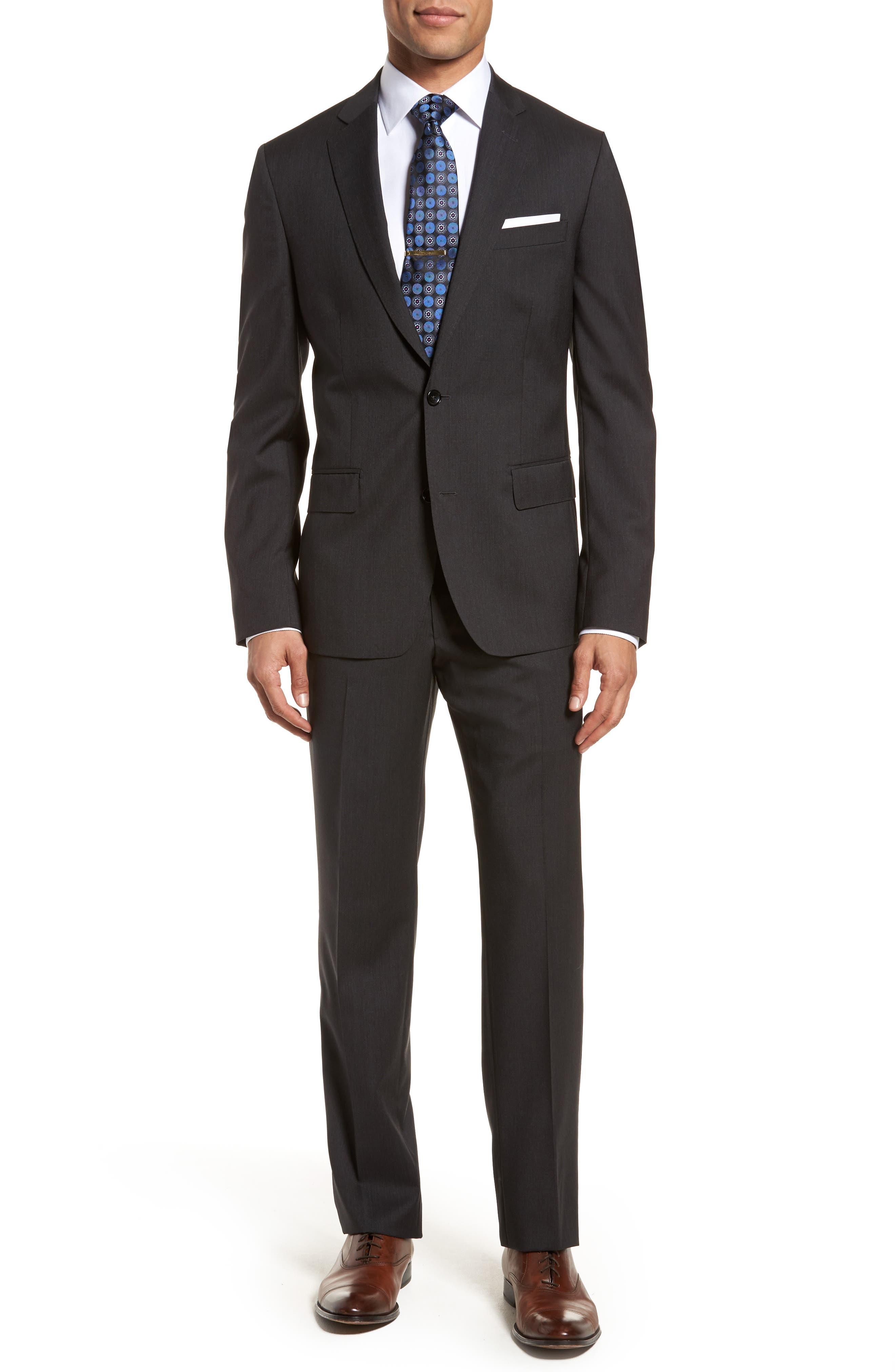 Classic Fit Check Suit,                         Main,                         color, 020