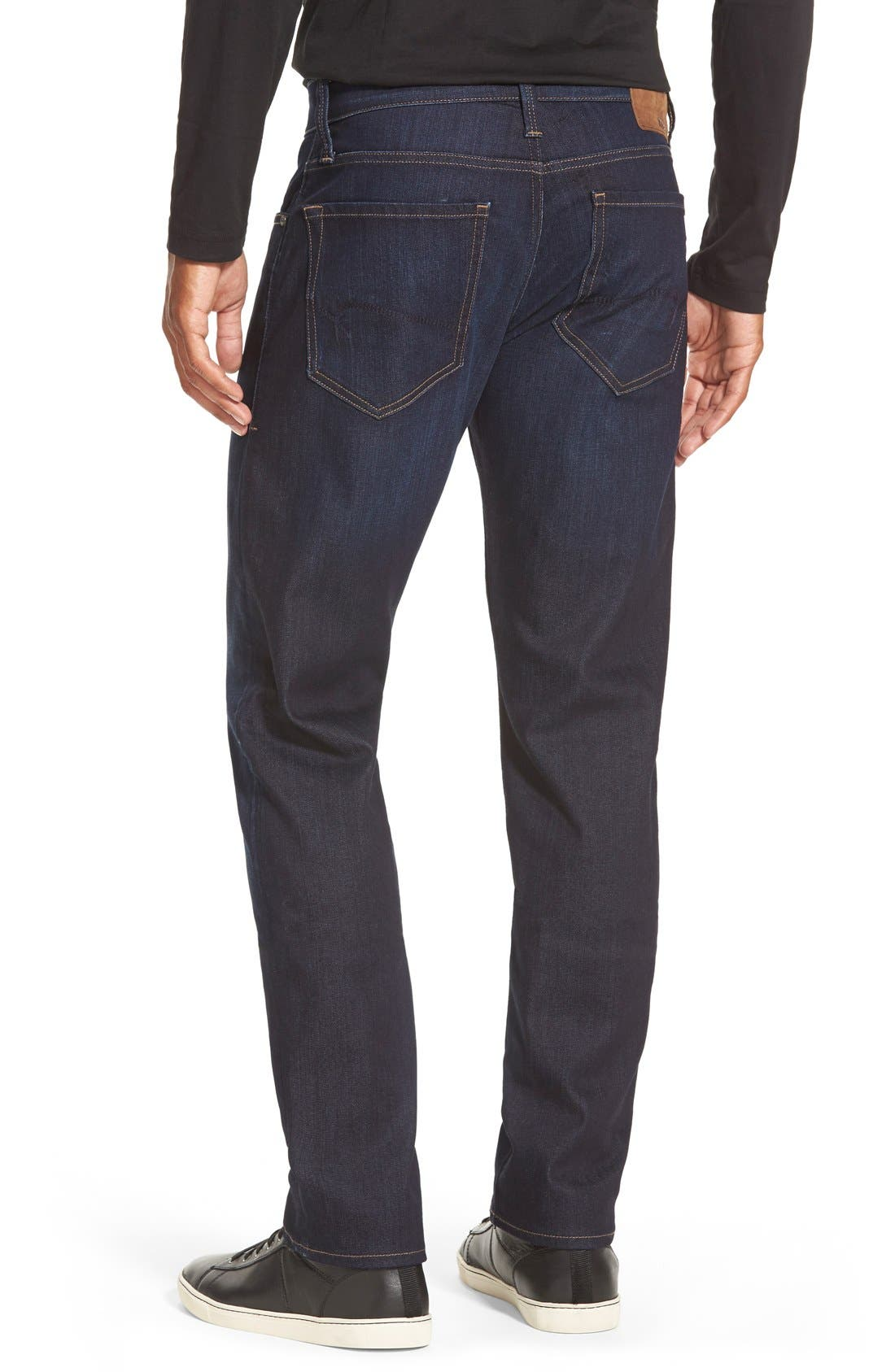 'Jake' Skinny Fit Jeans,                             Alternate thumbnail 3, color,                             RINSE BRUSHED WILLIAMSBURG