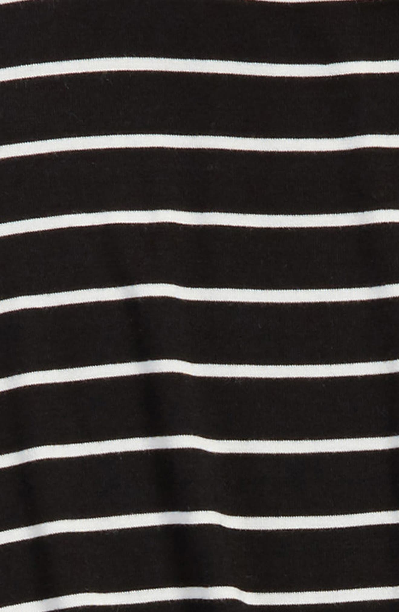Knotted Stripe Tee,                             Alternate thumbnail 2, color,                             001