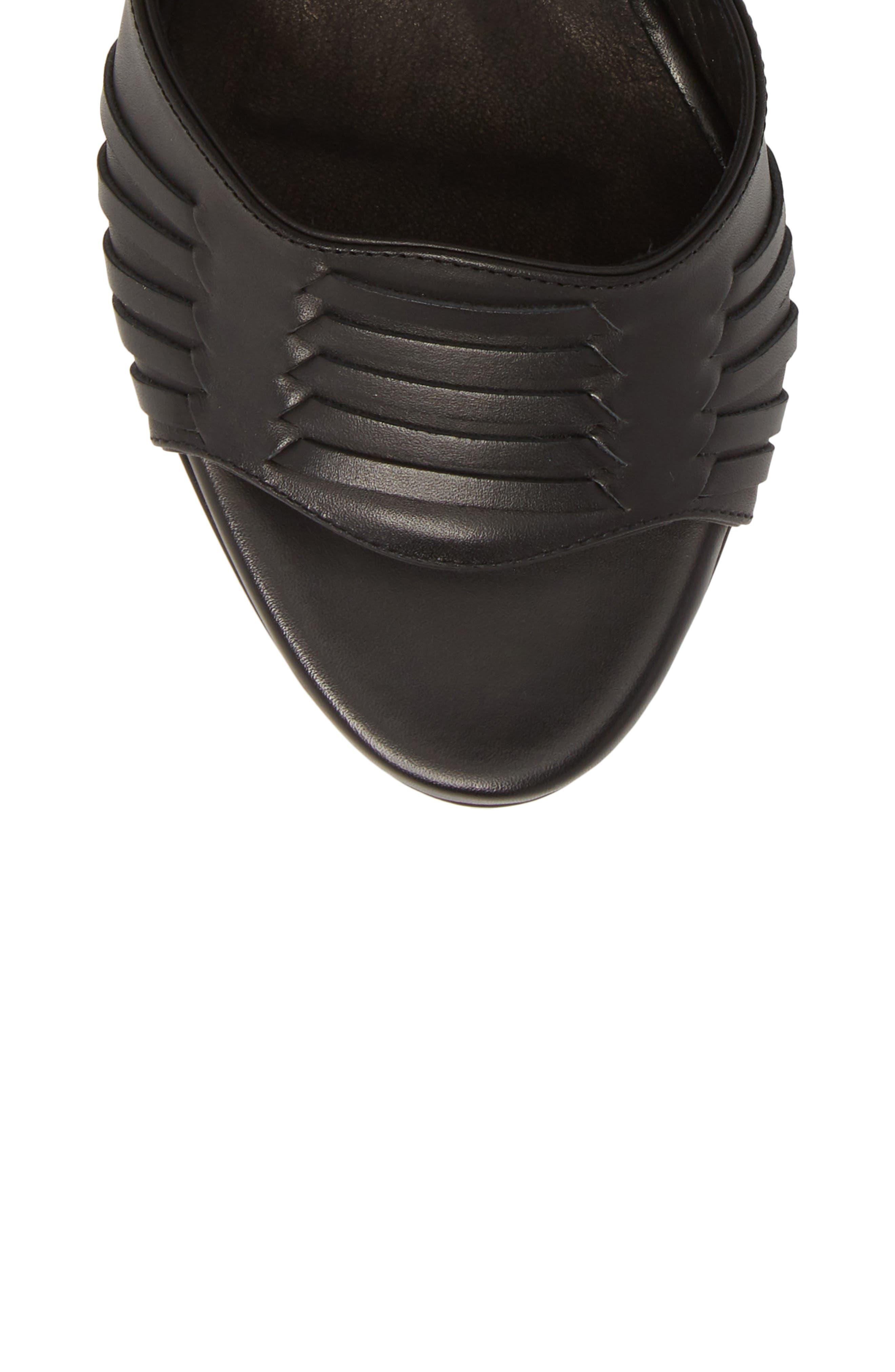 Brody Ankle Wrap Sandal,                             Alternate thumbnail 5, color,                             001