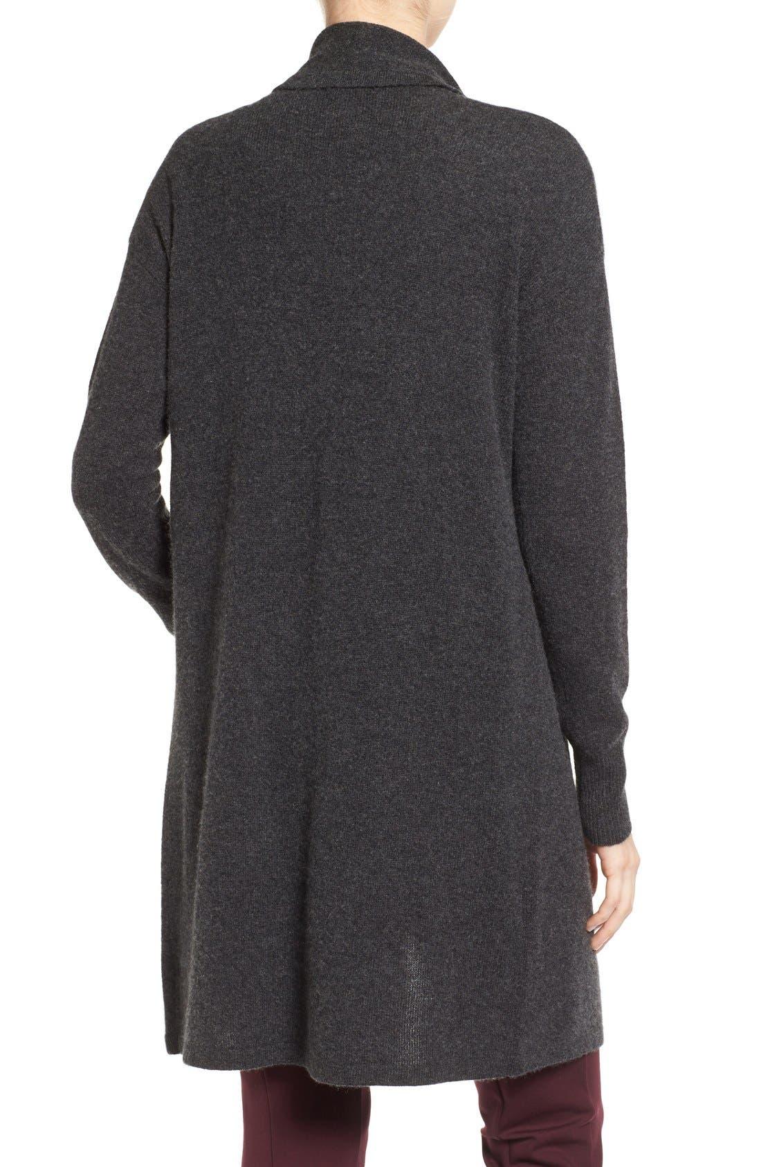Cashmere Long Drape Front Cardigan,                             Alternate thumbnail 27, color,