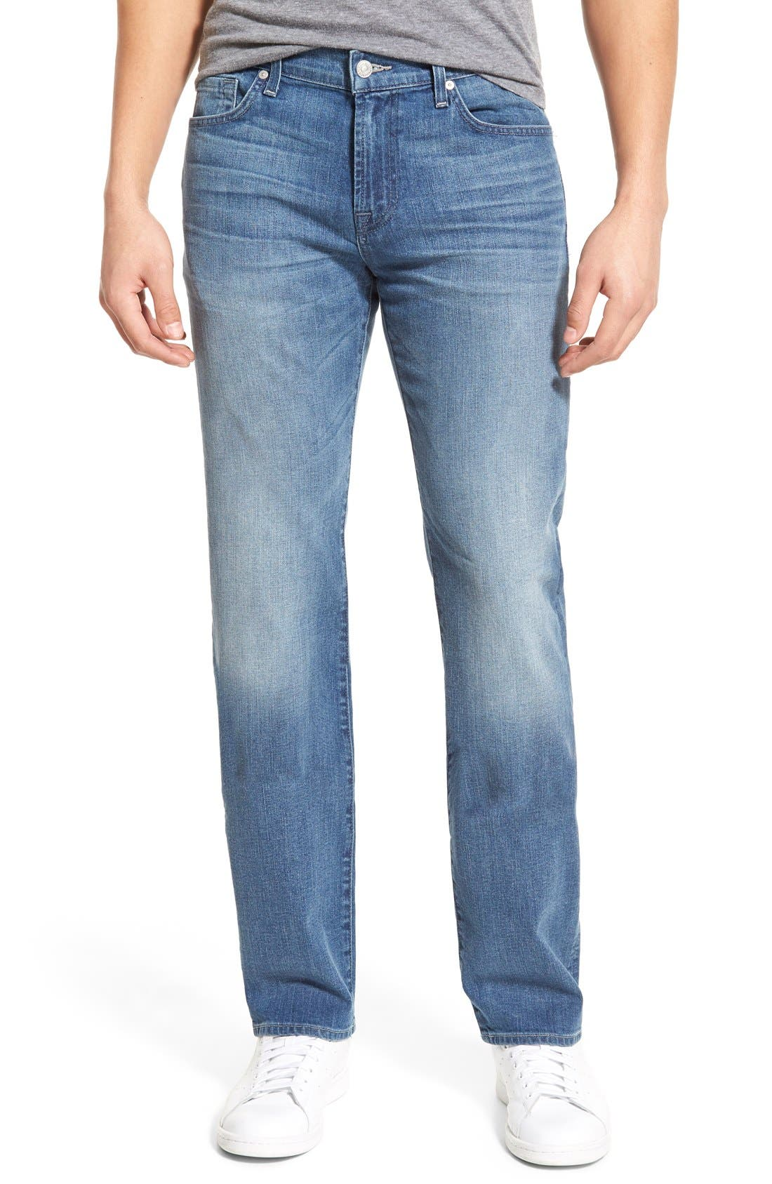 'Standard' Straight Leg Jeans,                             Main thumbnail 1, color,                             401
