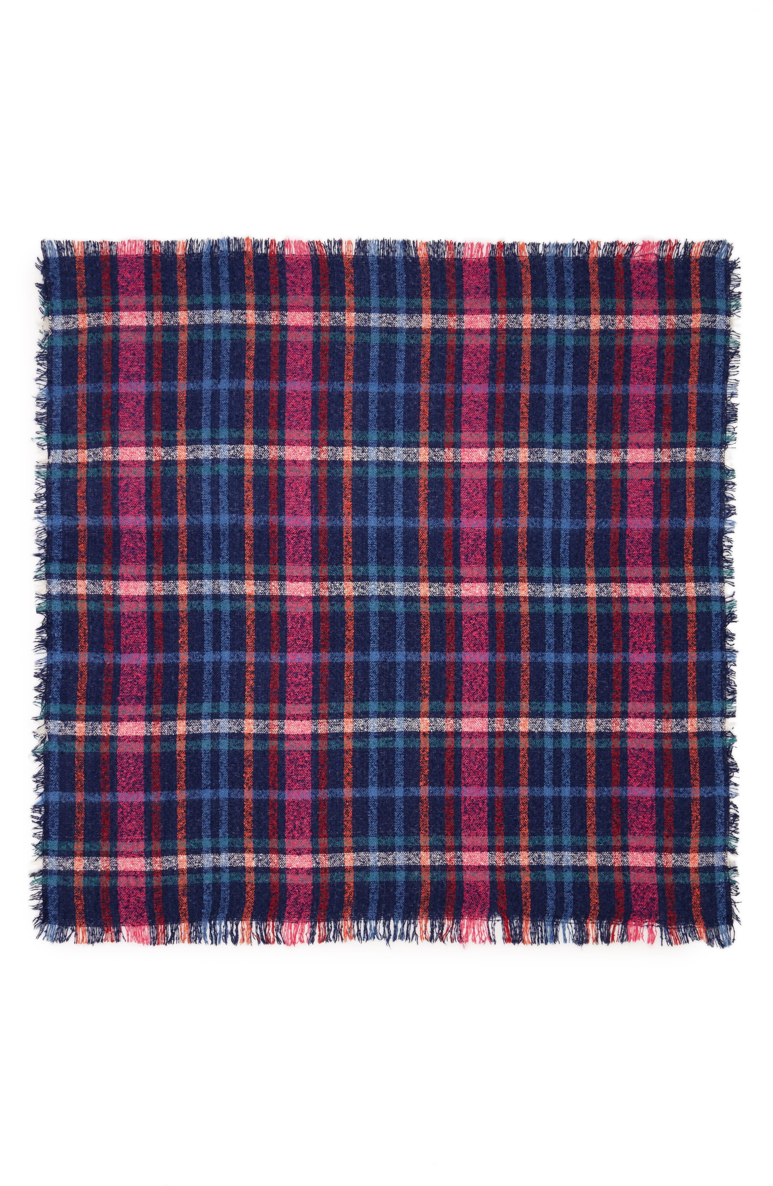 Multi Stripe Square Bouclé Scarf,                             Alternate thumbnail 2, color,                             400