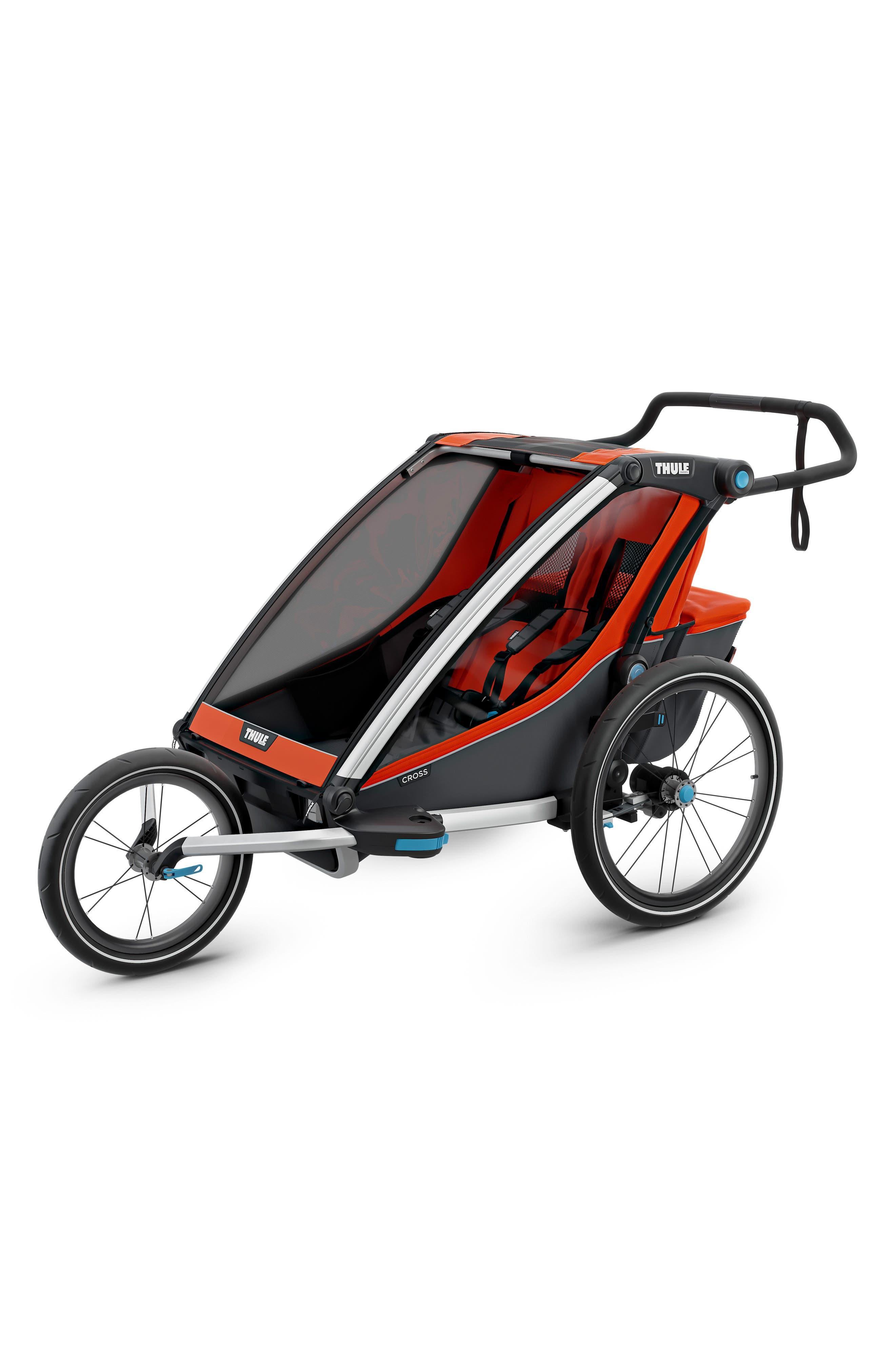 Chariot Cross 2 Multisport Double Cycle Trailer/Stroller,                             Alternate thumbnail 7, color,                             ROARANGE