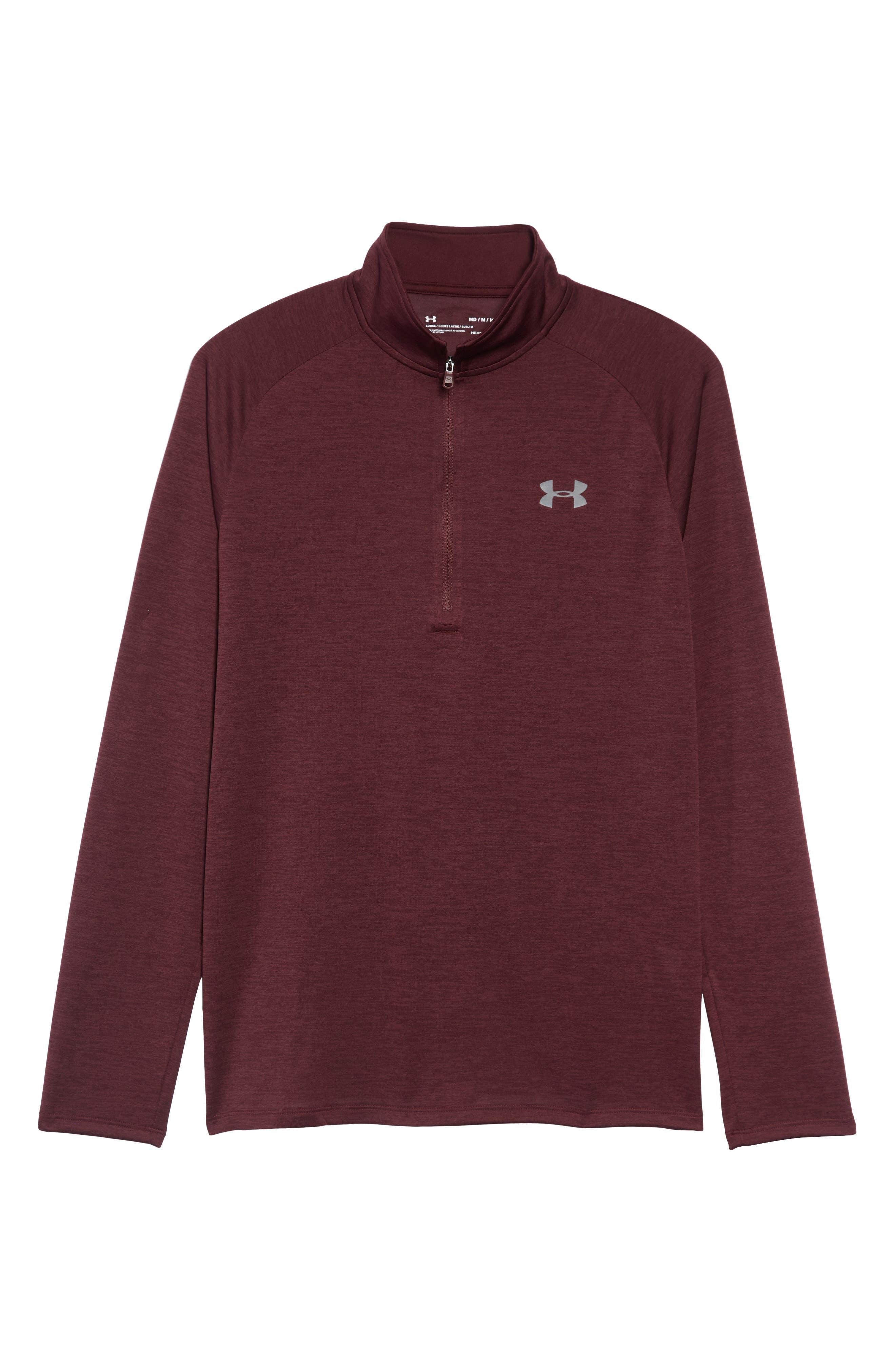 UNDER ARMOUR,                             Tech Half Zip Sweatshirt,                             Alternate thumbnail 6, color,                             600