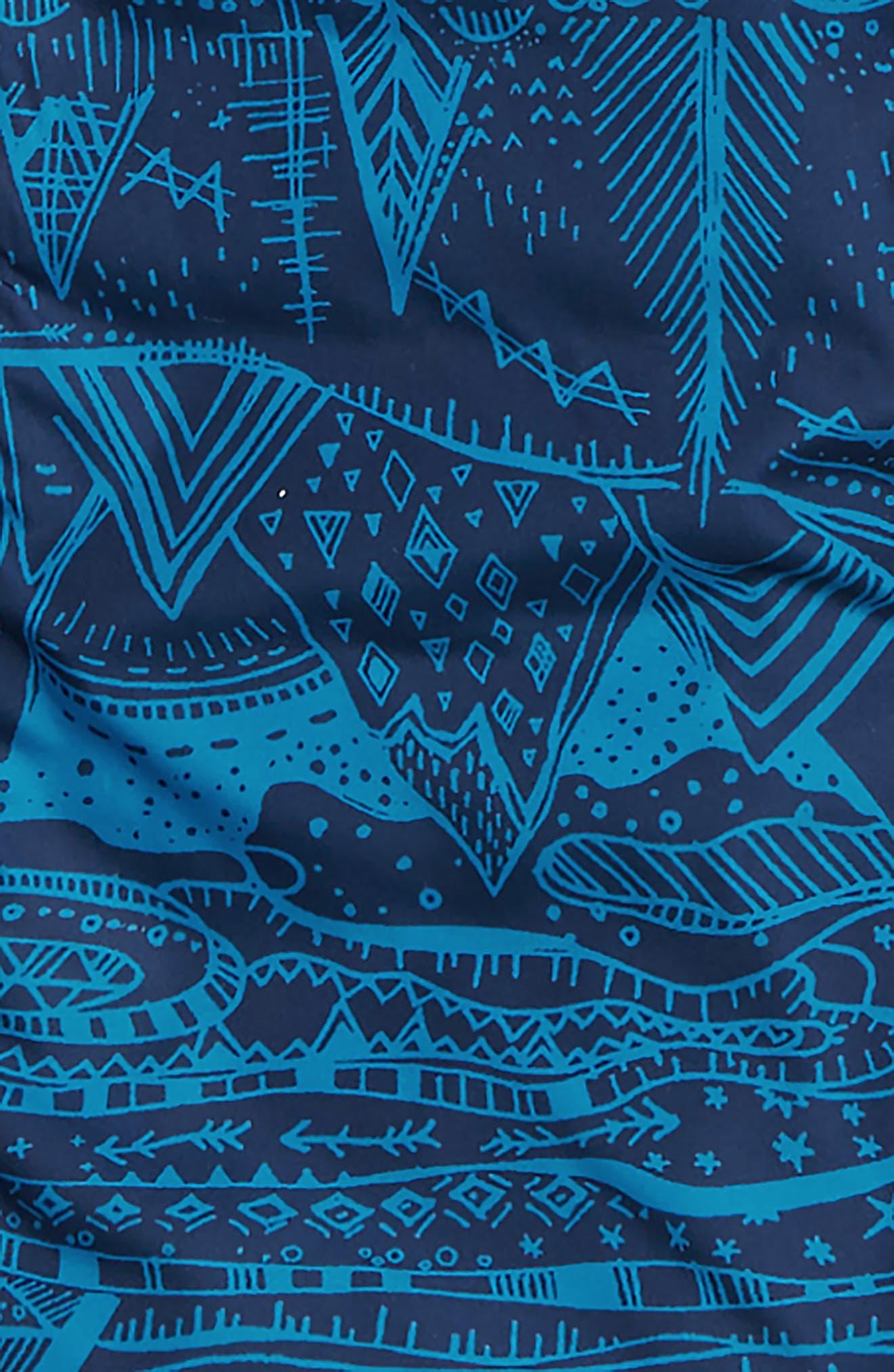 Reversible Down Sweater Hoodie,                             Alternate thumbnail 3, color,                             ALBB ALBANIAN: BALKAN BLUE