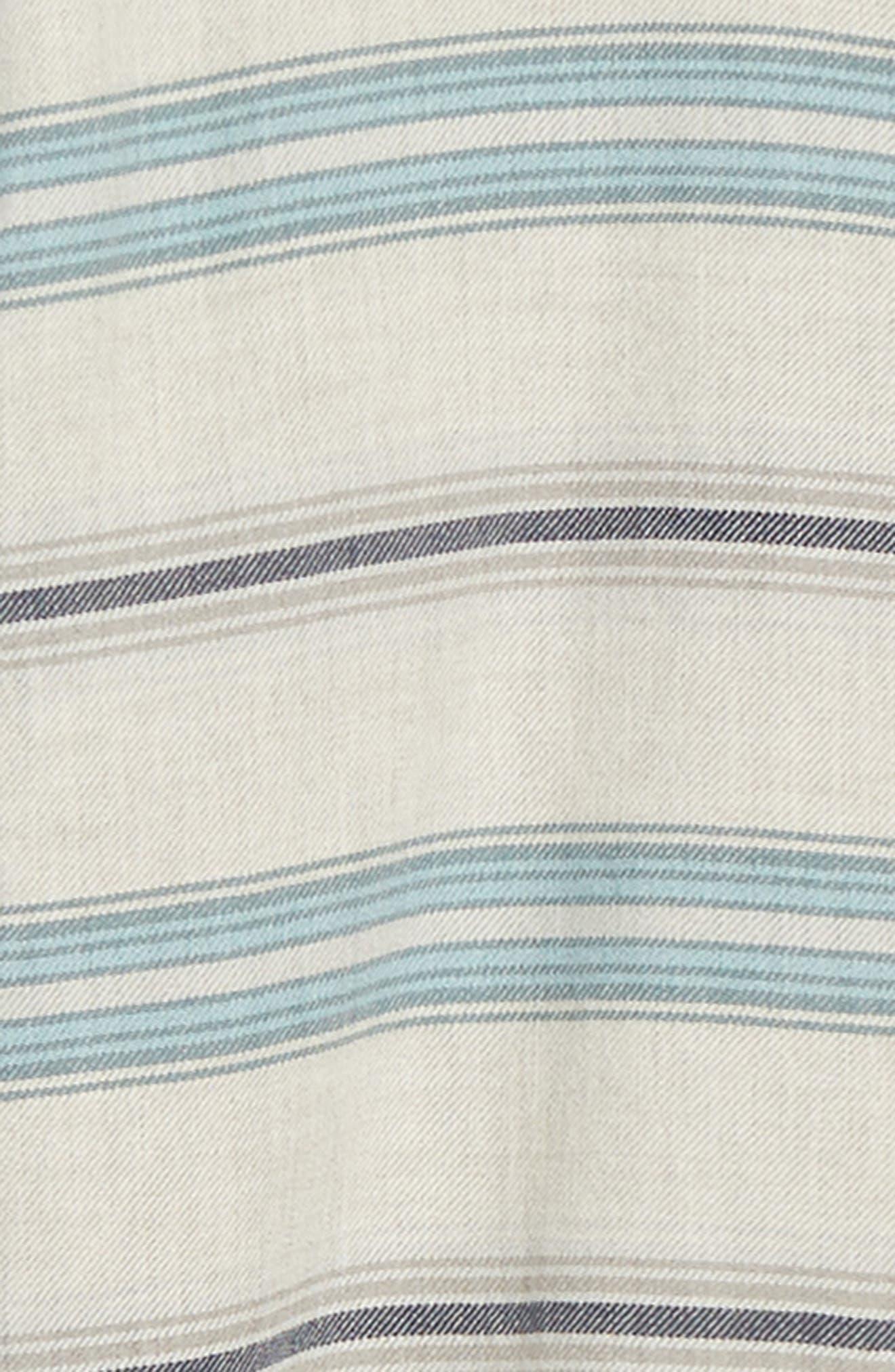 PATAGONIA,                             Regular Fit Organic Cotton Flannel Shirt,                             Alternate thumbnail 6, color,                             TARKINE STRIPE DRIFTER GREY