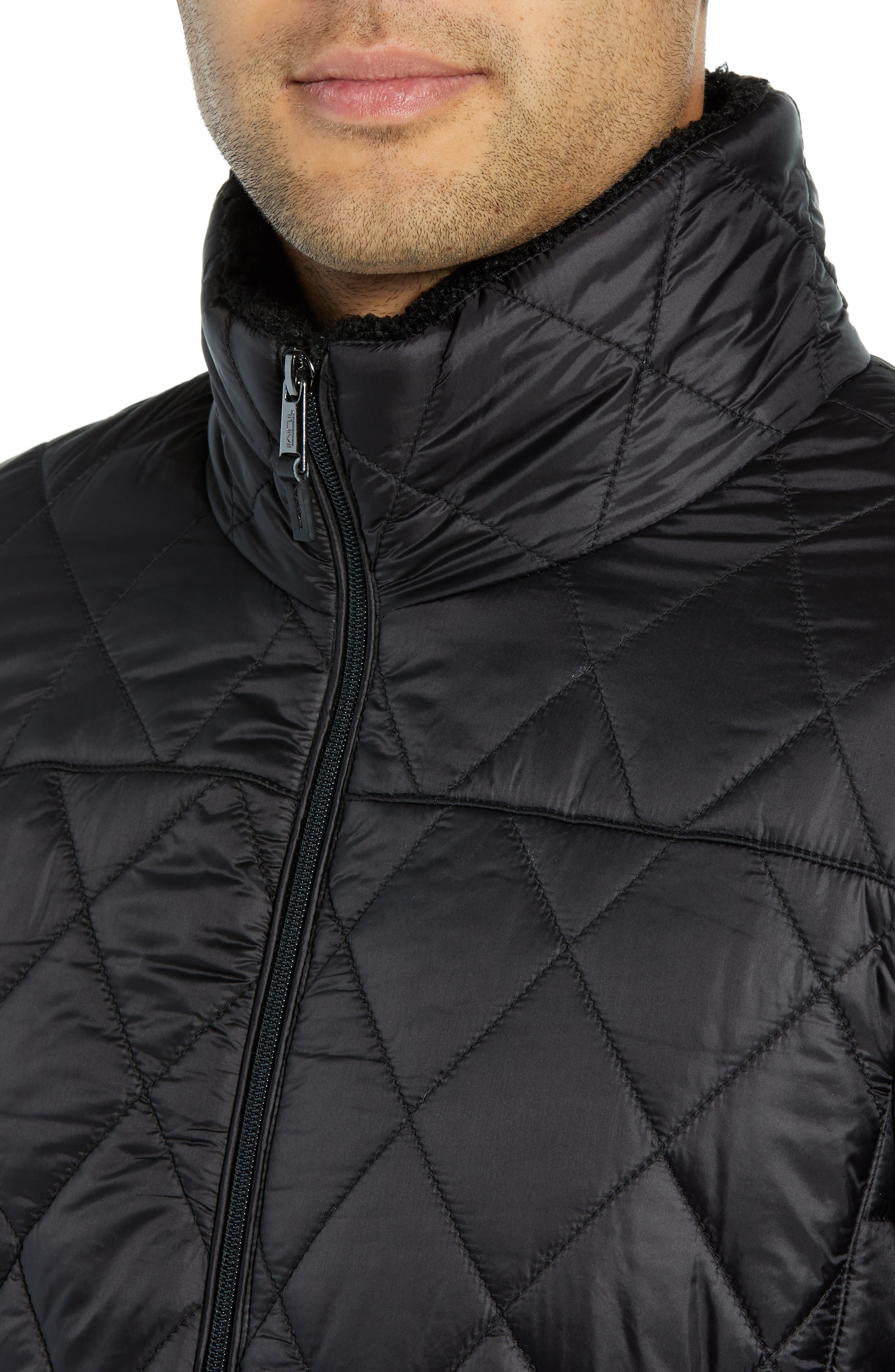 Transit Quilted Jacket,                             Alternate thumbnail 4, color,                             BLACK