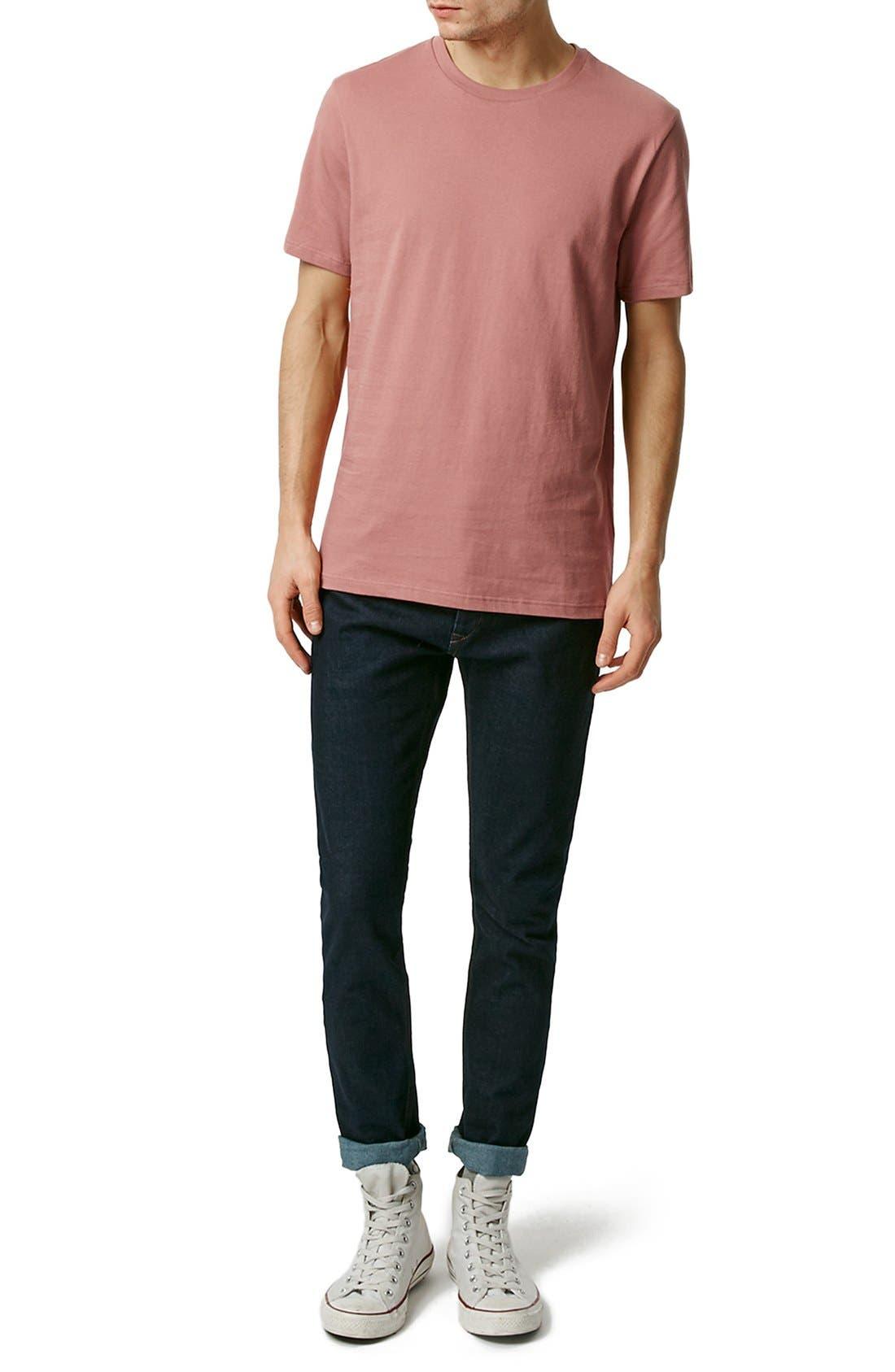 Slim Fit Crewneck T-Shirt,                             Alternate thumbnail 179, color,