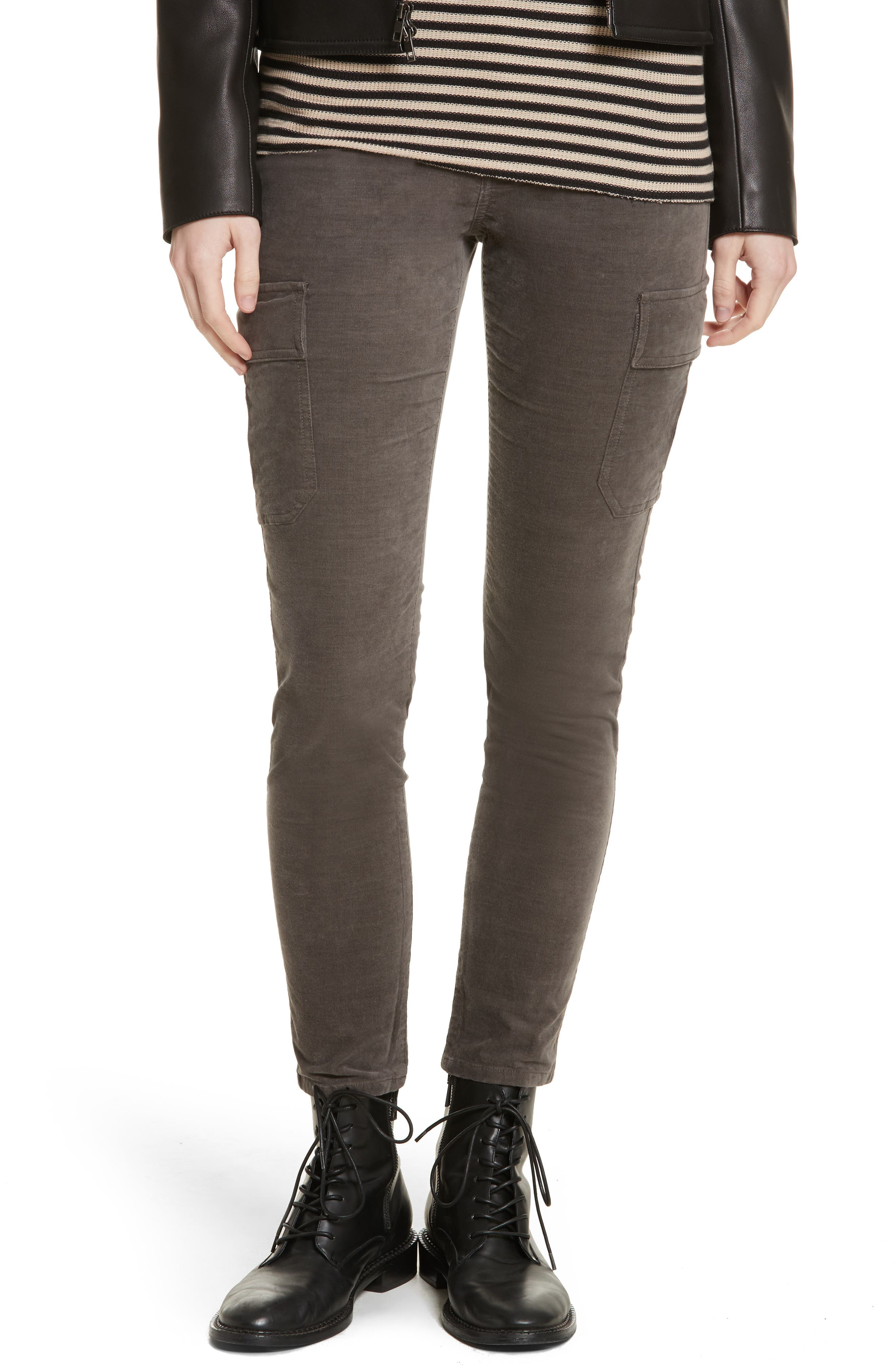 Skinny Corduroy Cargo Pants,                         Main,                         color,