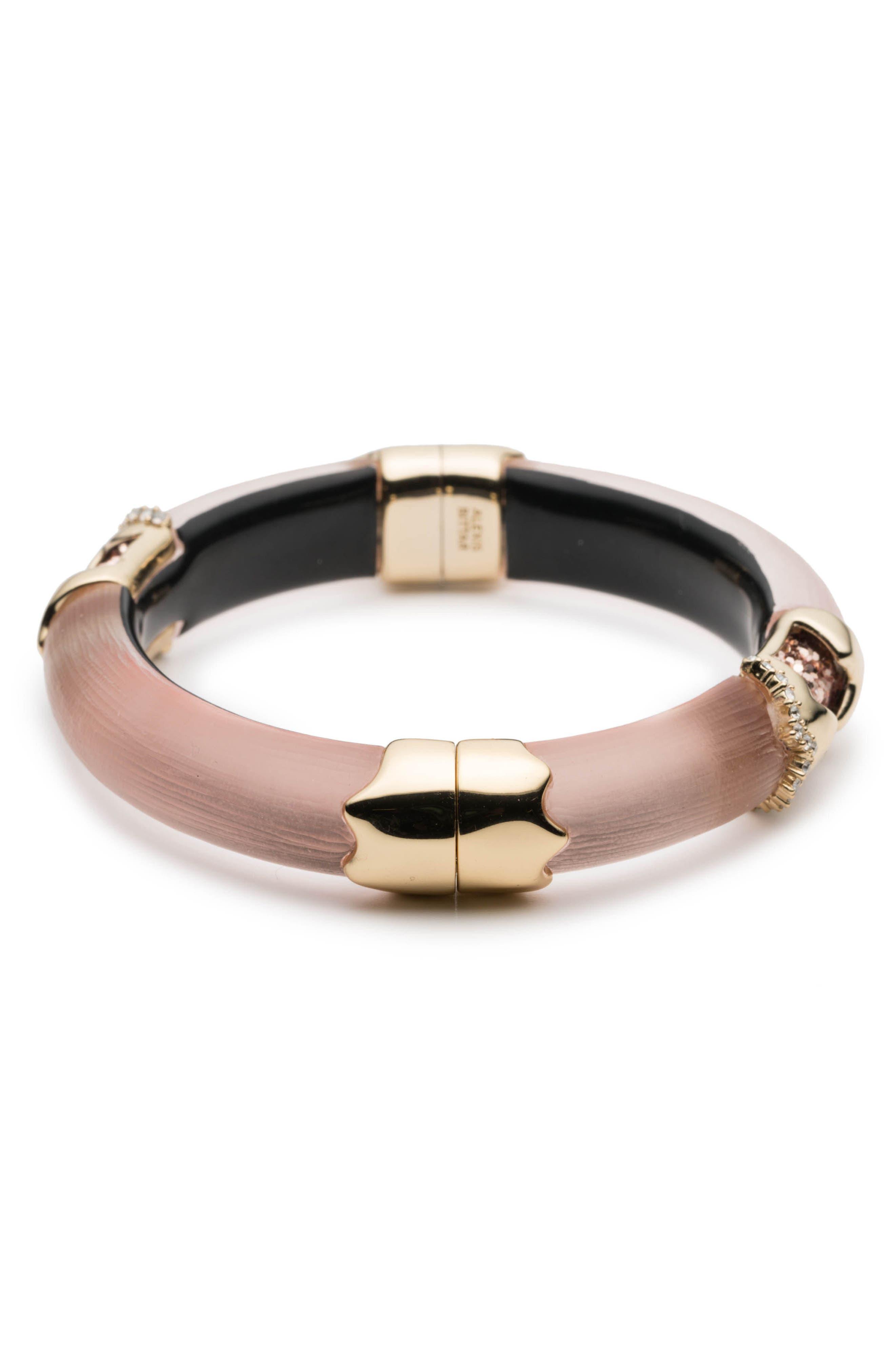 Lucite<sup>®</sup> Side Hinge Bracelet,                             Alternate thumbnail 6, color,