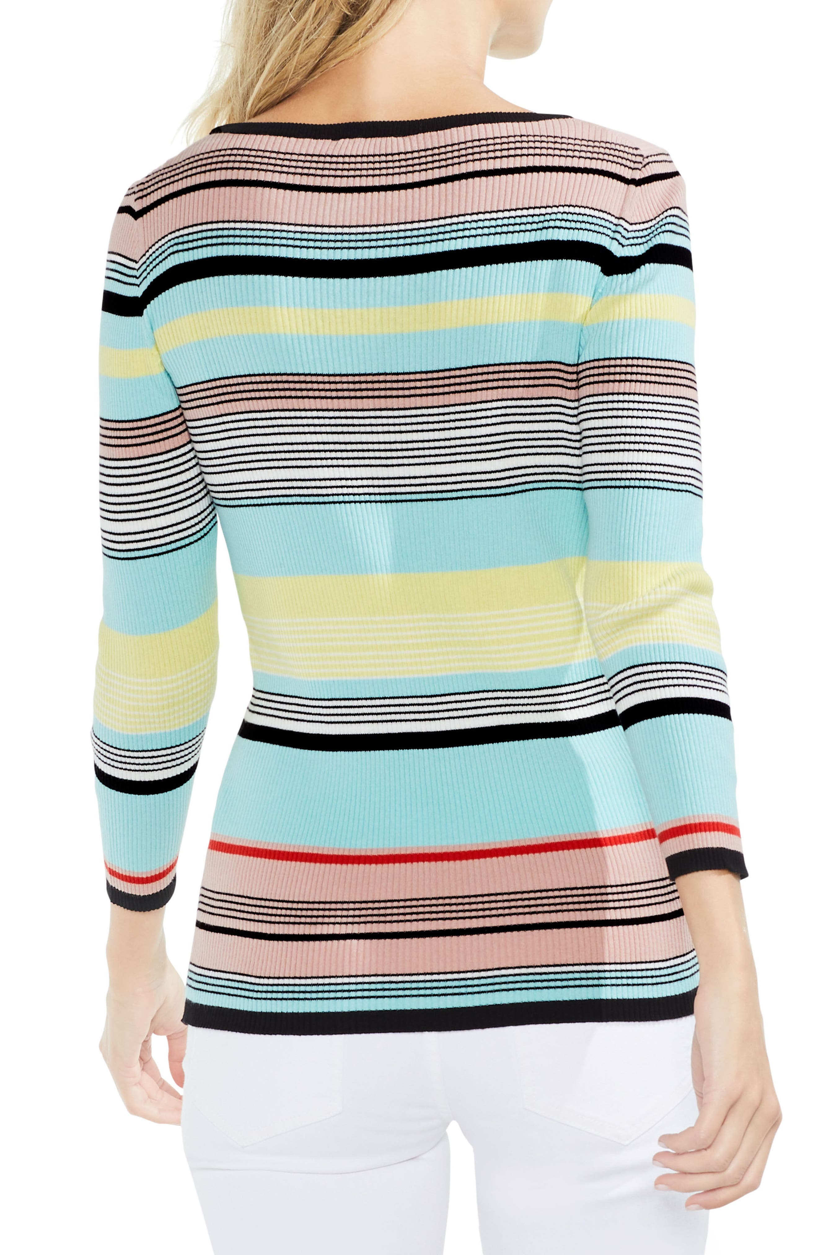Colorblock Ribbed Sweater,                             Alternate thumbnail 2, color,
